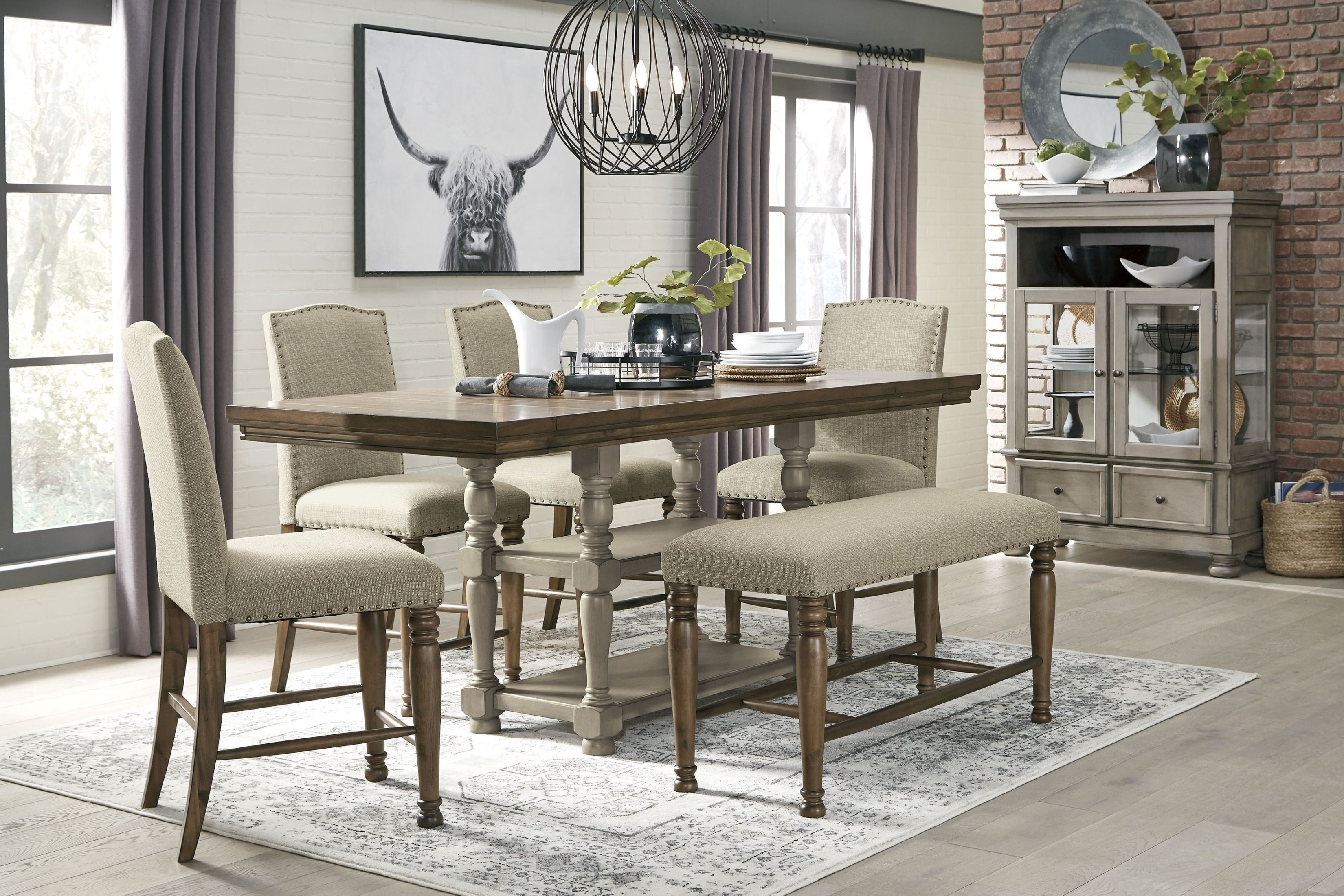 Coaster 5 Pc Lampton Counter Height Dining Table Set 100523 102855 Savvy Discount Furniture