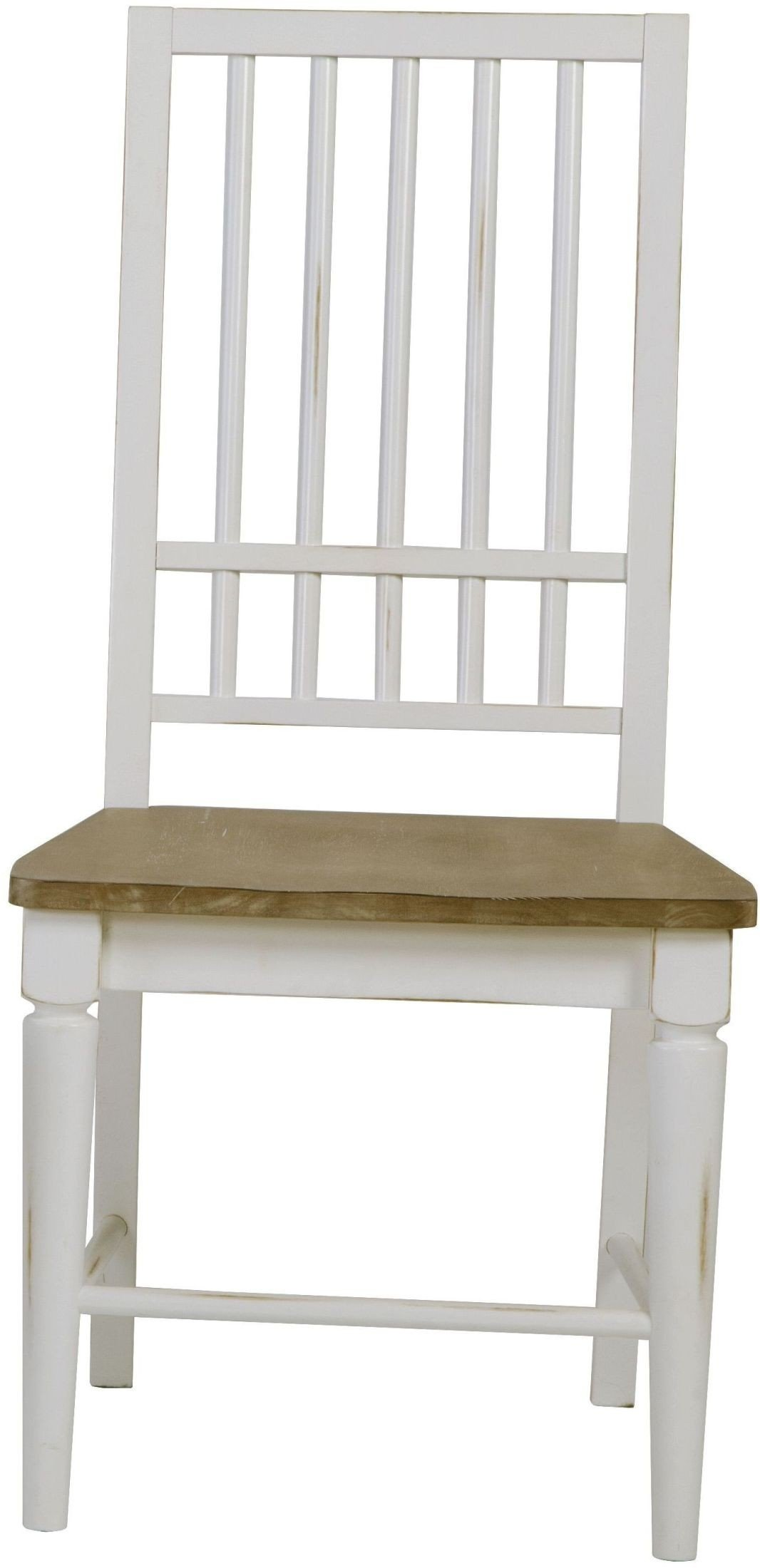 Shutters Light Oak And Distressed White Dining Room Set