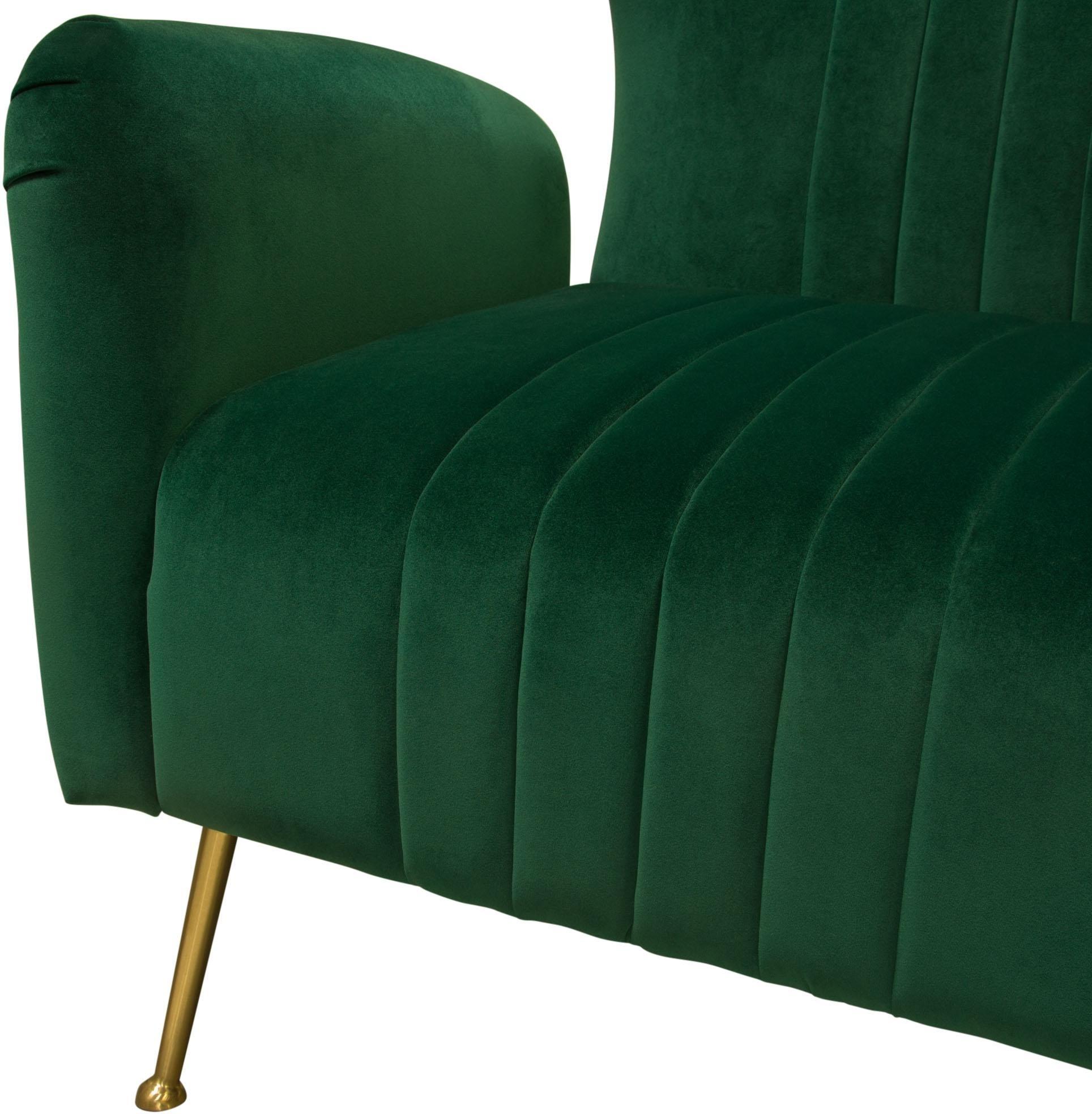 Diamond Sofa Ava Emerald Green Velvet Chair 1stopbedrooms