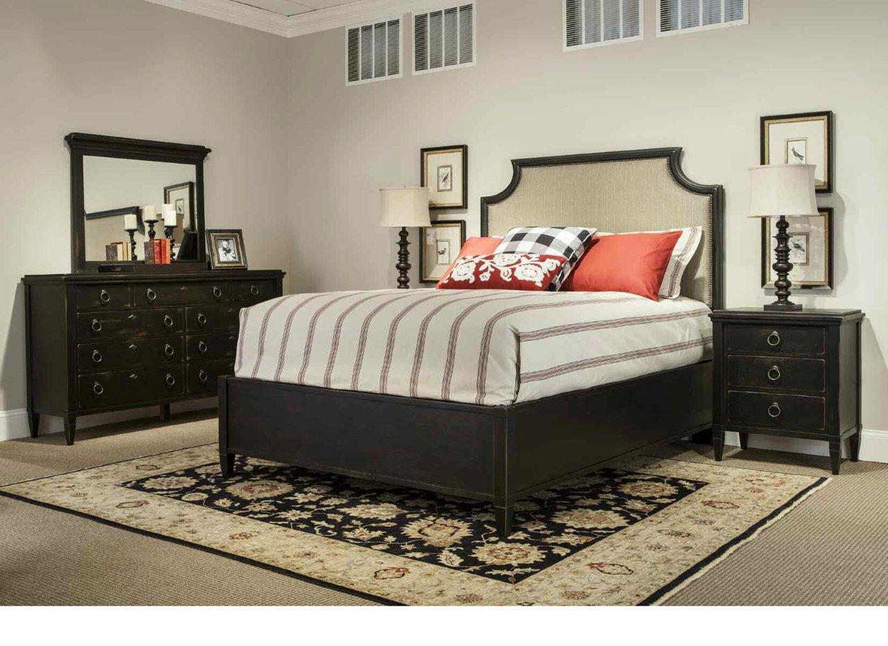 Durham Furniture Springville Upholstered Panel Bedroom Set In Truffle 1stopbedrooms
