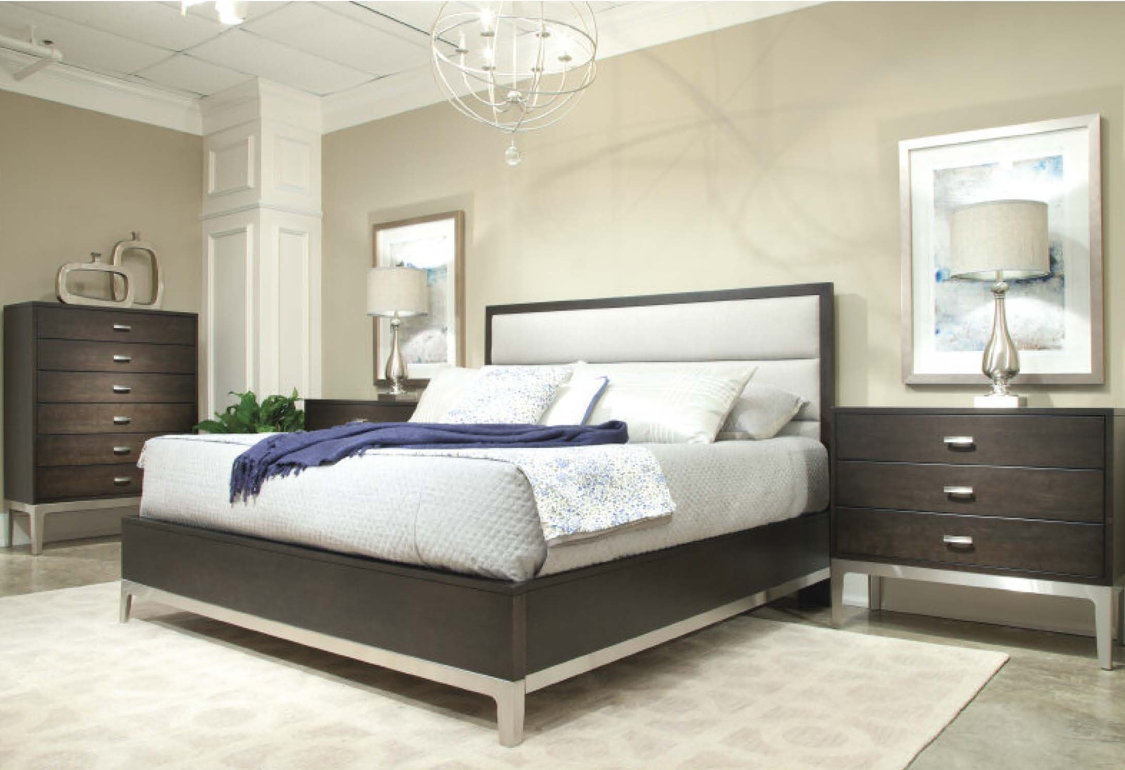 Durham Furniture Defined Distinction Upholstered Bedroom