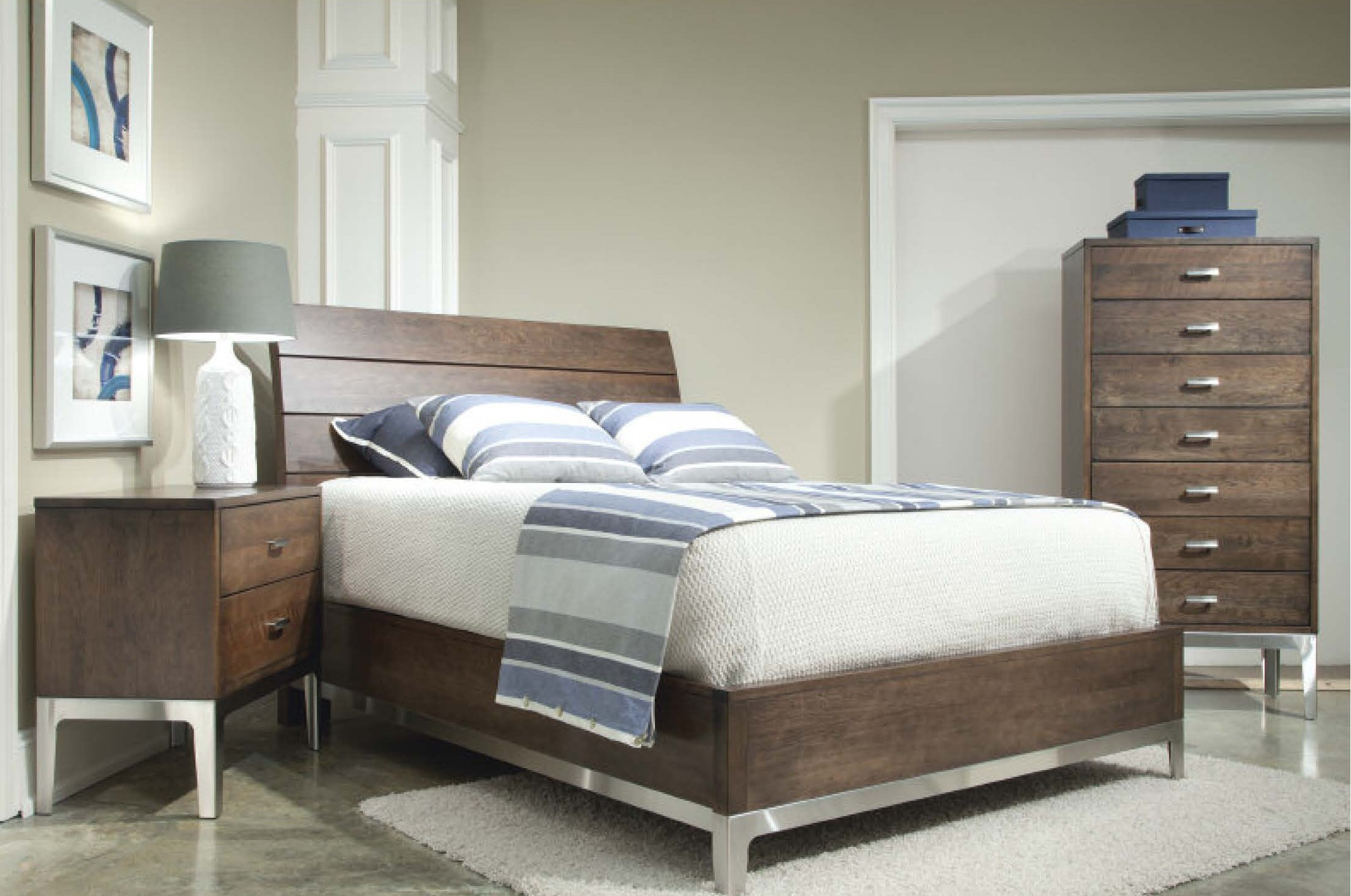 Durham Furniture Defined Distinction Wood Plank Bedroom Set In