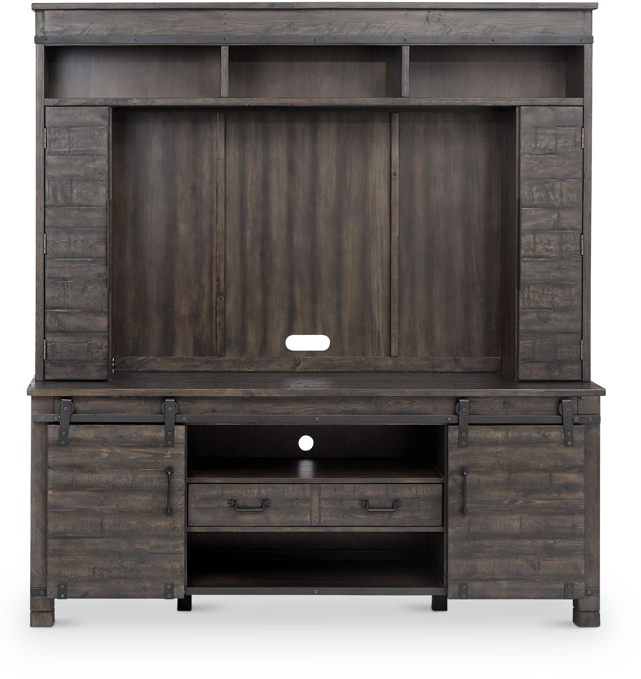Magnussen Abington Weathered Charcoal Console