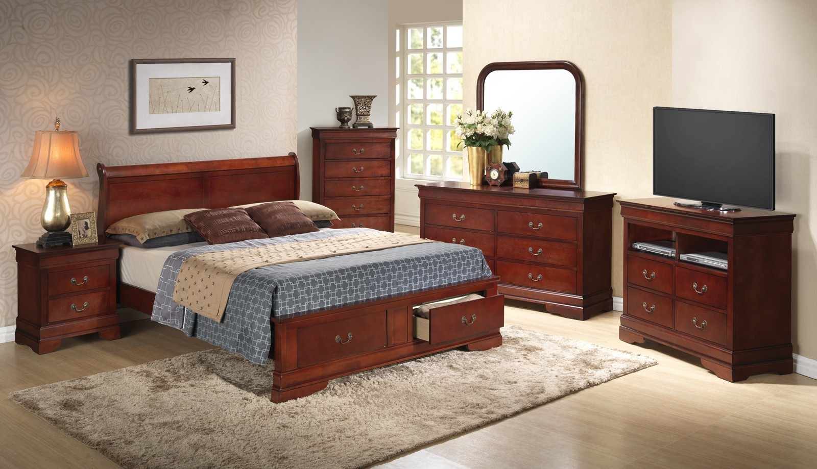 Glory Furniture G3100 Queen Low Profile Storage Bed in ...