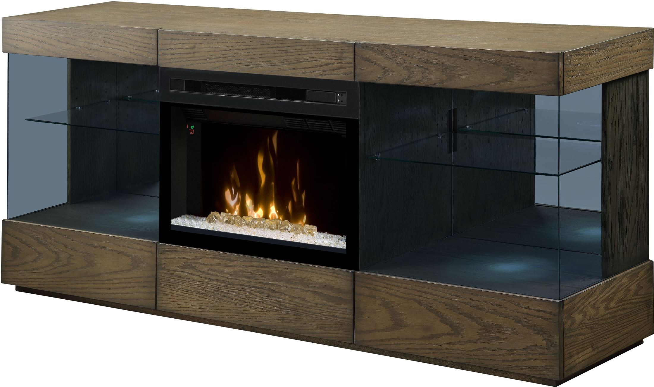 Axel raked sand media console electric fireplace with - Going to bed with embers in fireplace ...