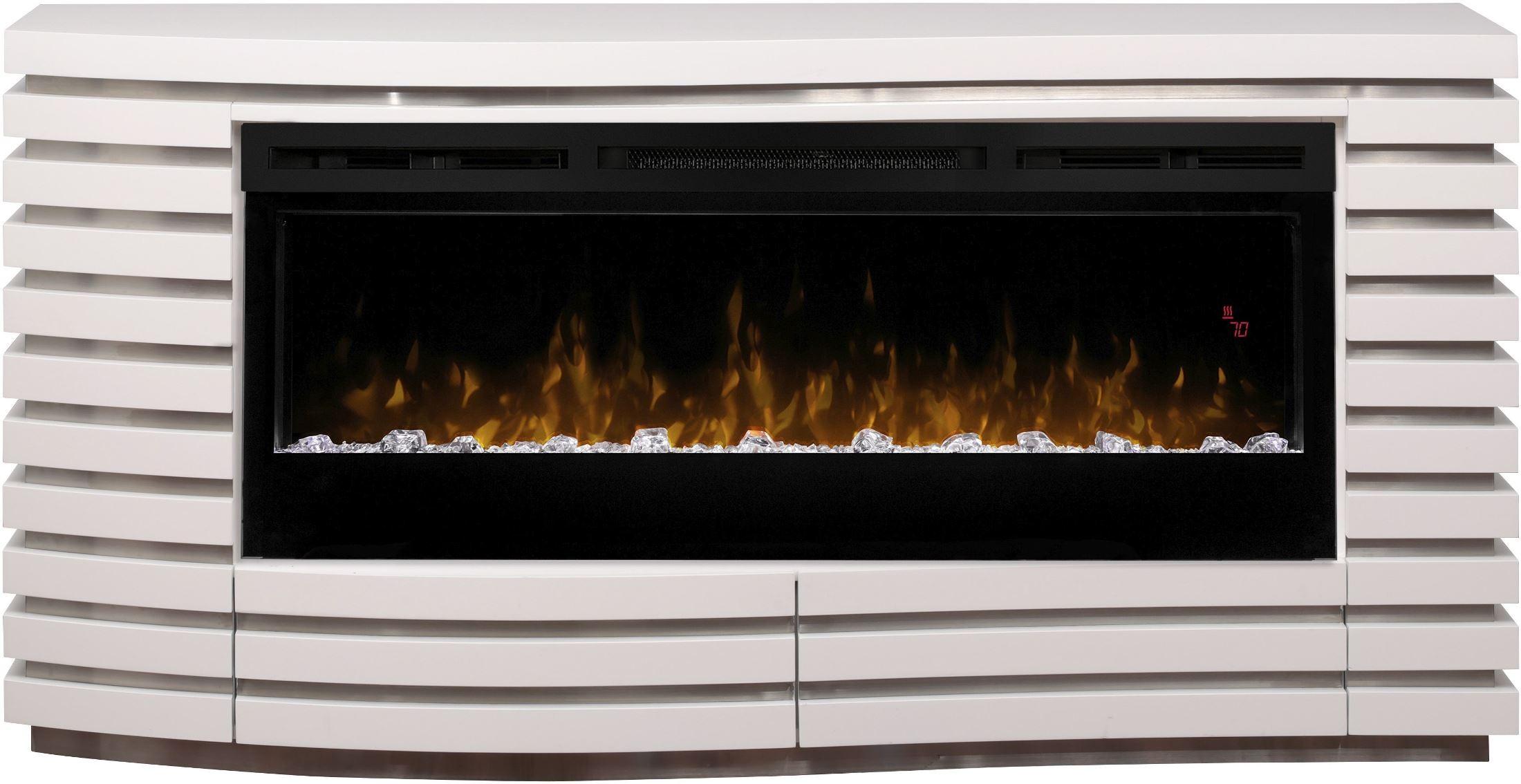 Dimplex Elliot White Mantel Fireplace With Acrylic Ice Elliot