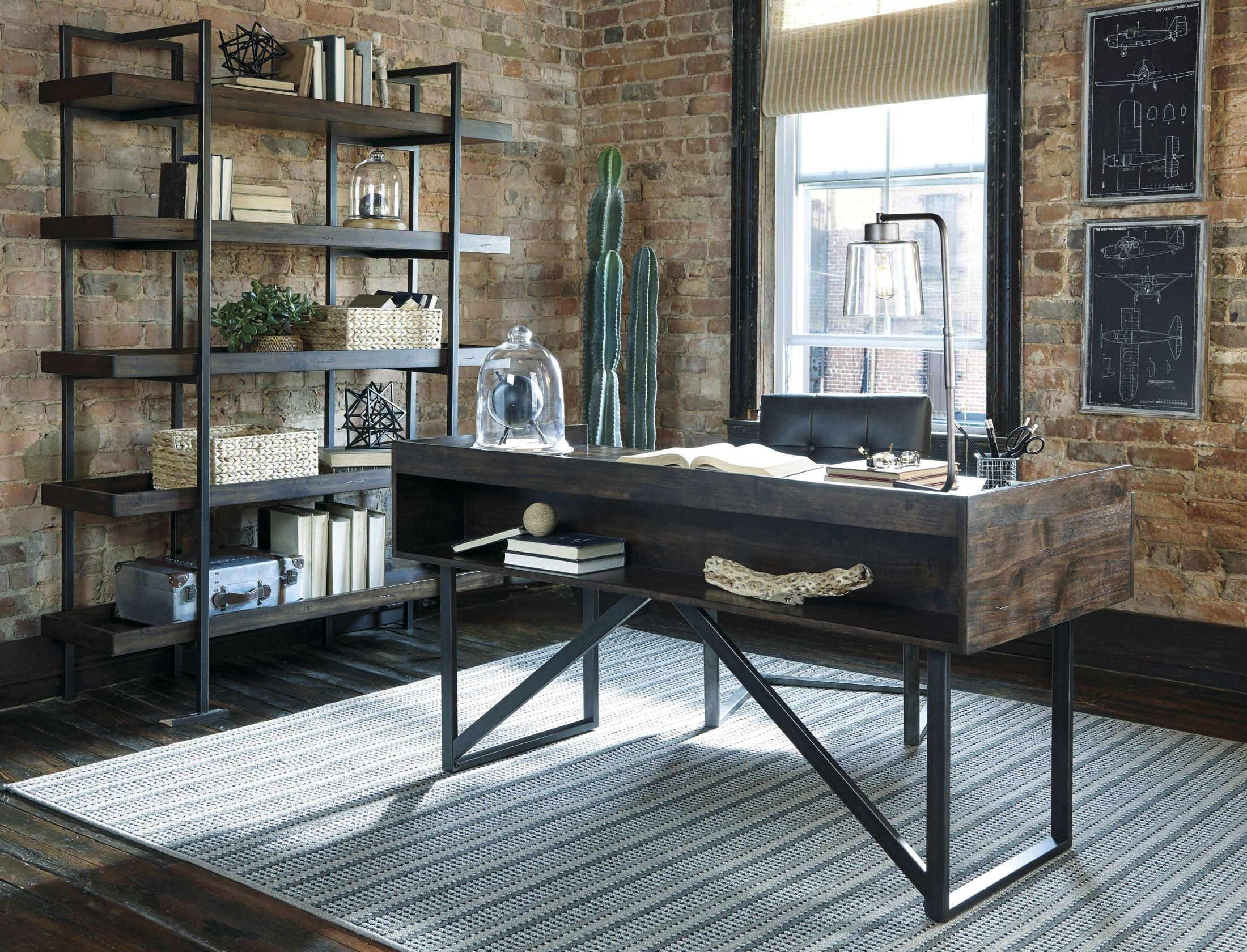 Starmore Brown Home Office Set Media Gallery 2