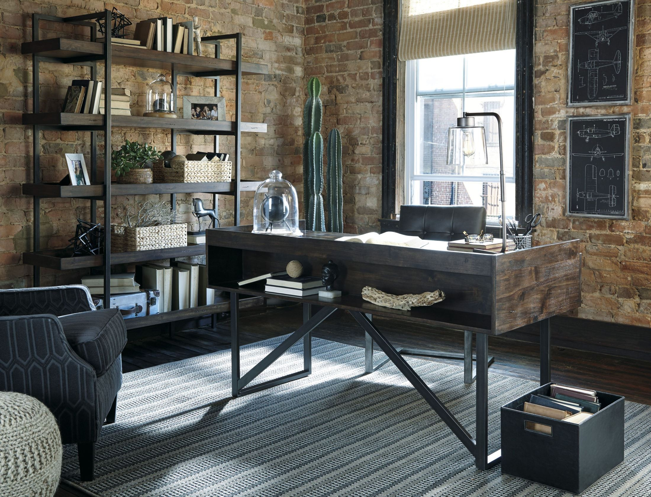 Starmore Brown Home Office Set Media Gallery 1