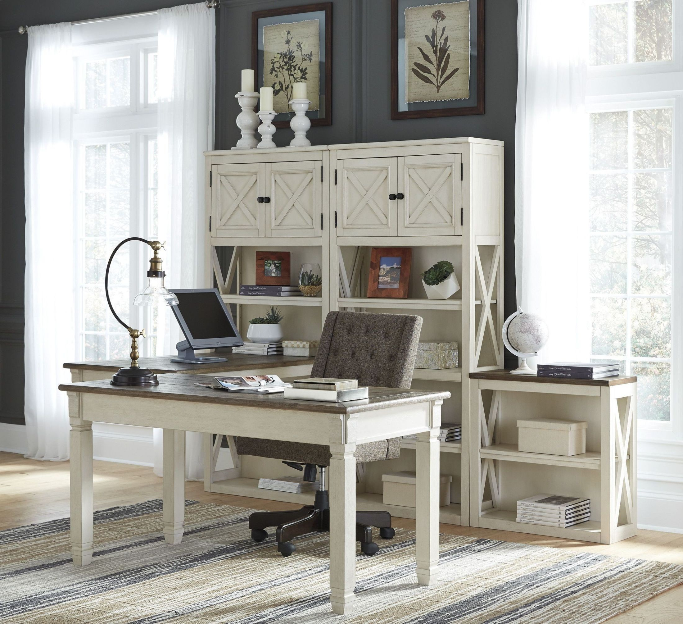 Bolanburg Two-tone Home Office Set Media Gallery