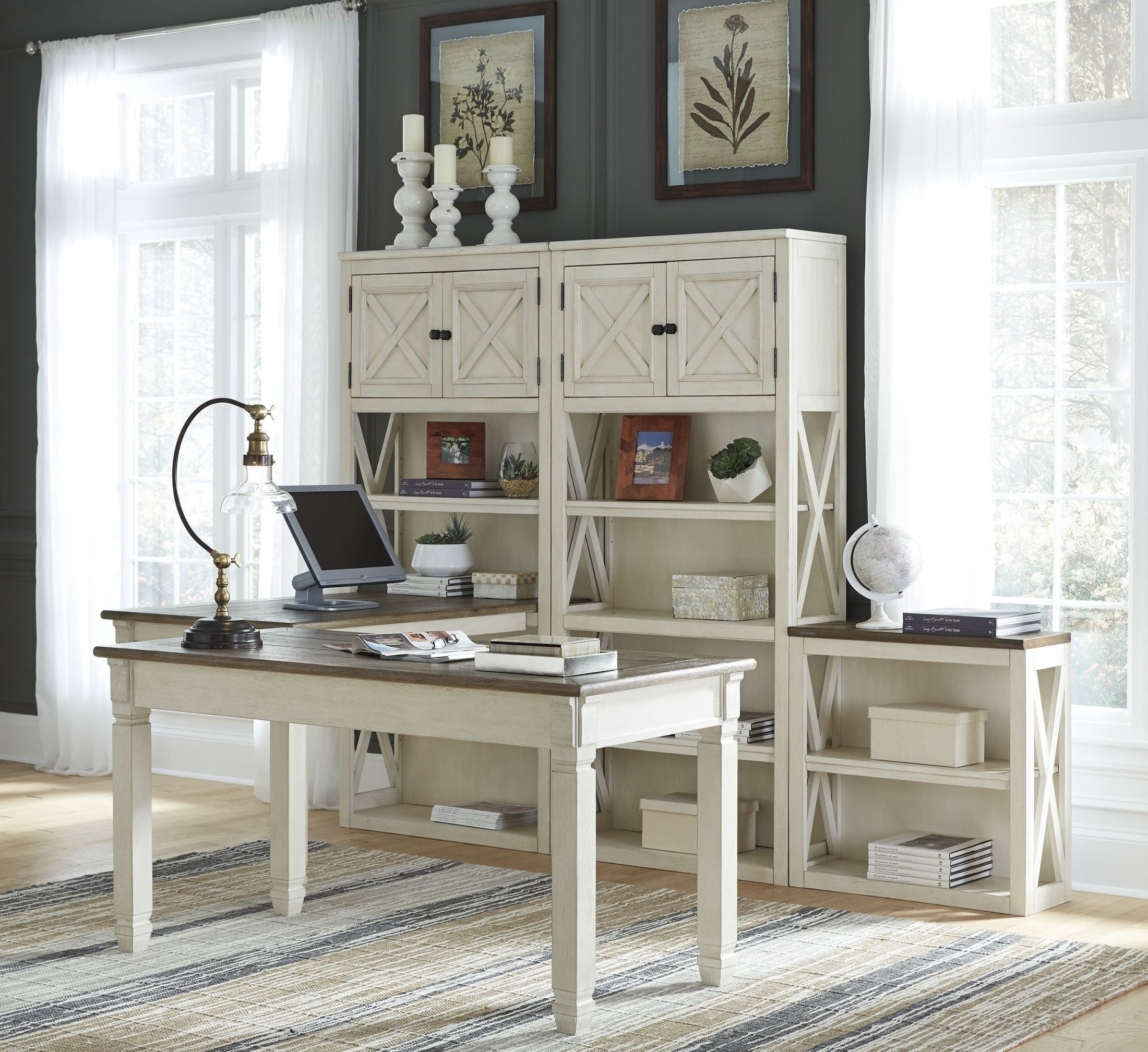 Bolanburg Two-tone Home Office Set Media Gallery 1