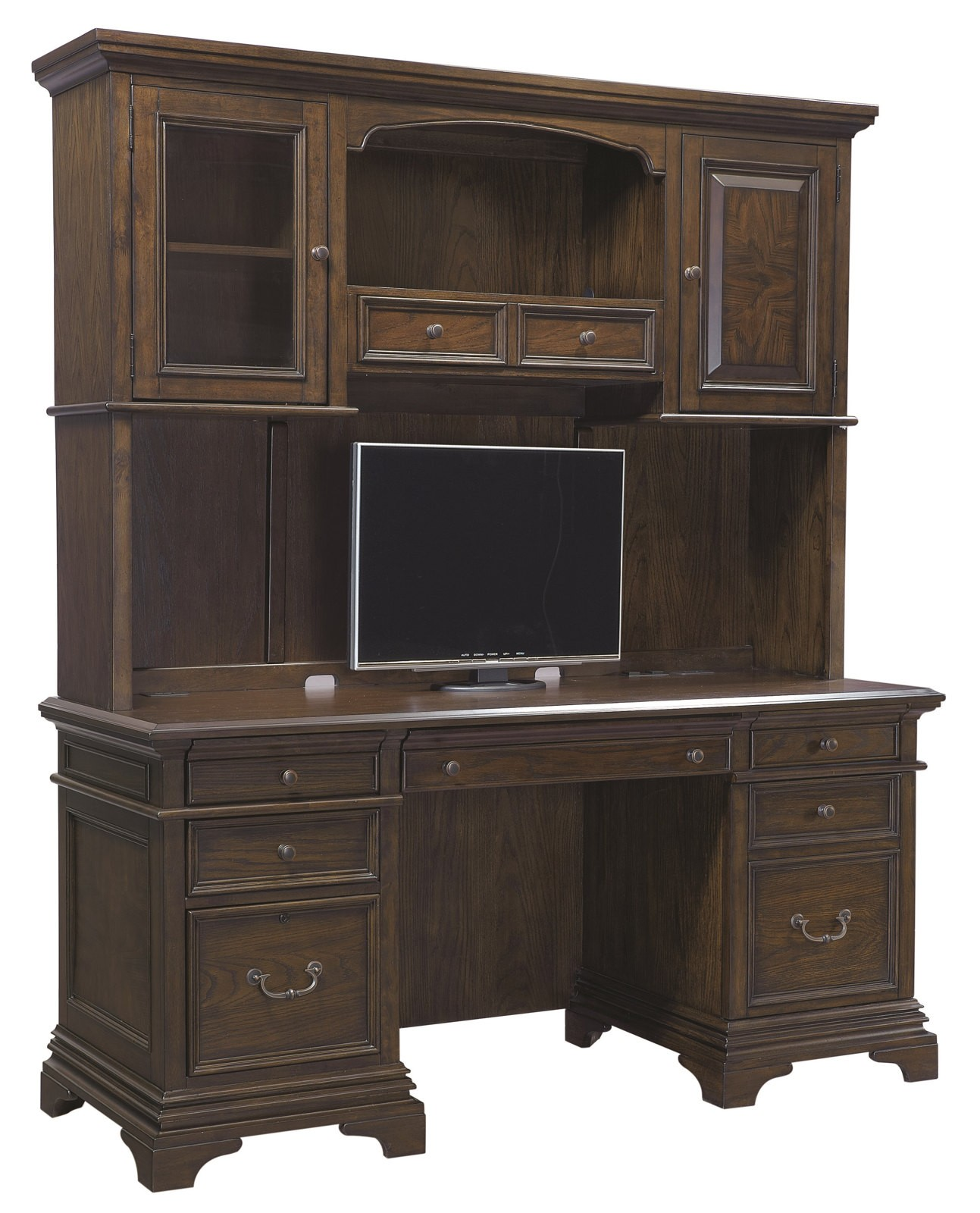 "Bedroom Credenza: Aspenhome Essex 66"" Credenza And Hutch In Molasses Brown"