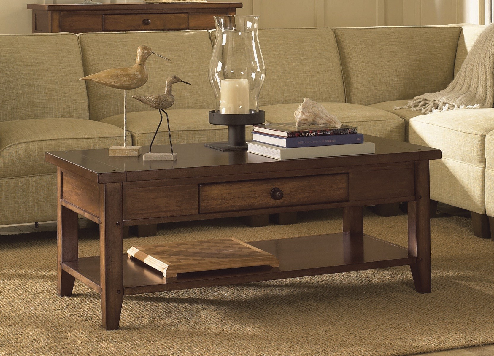 Aspen Home Coffee Table.Aspenhome Cross Country Cocktail Table W Shelf In Saddle Brown Imr 910