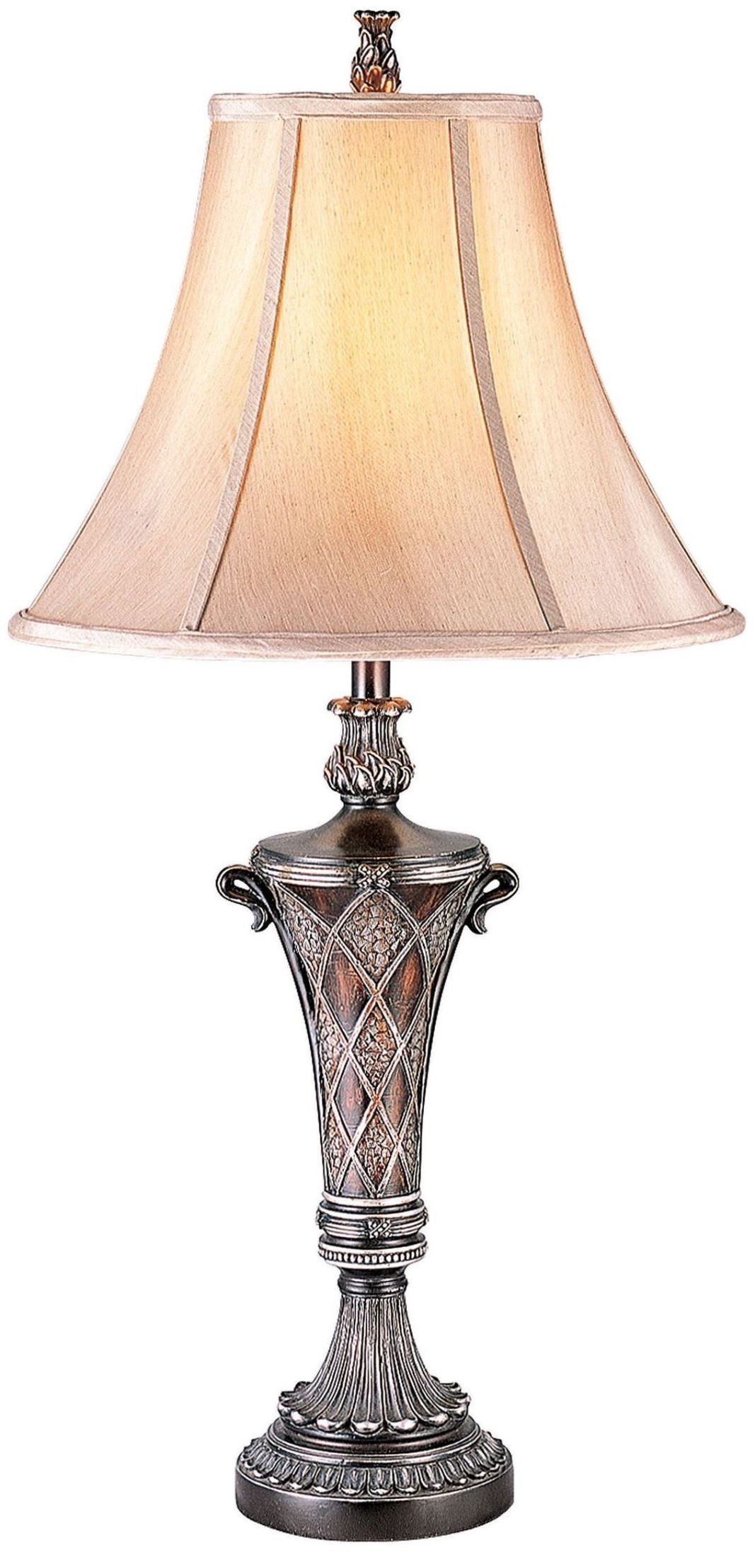 Vera Sterling Silver Table Lamp Set Of 2 1stopbedrooms