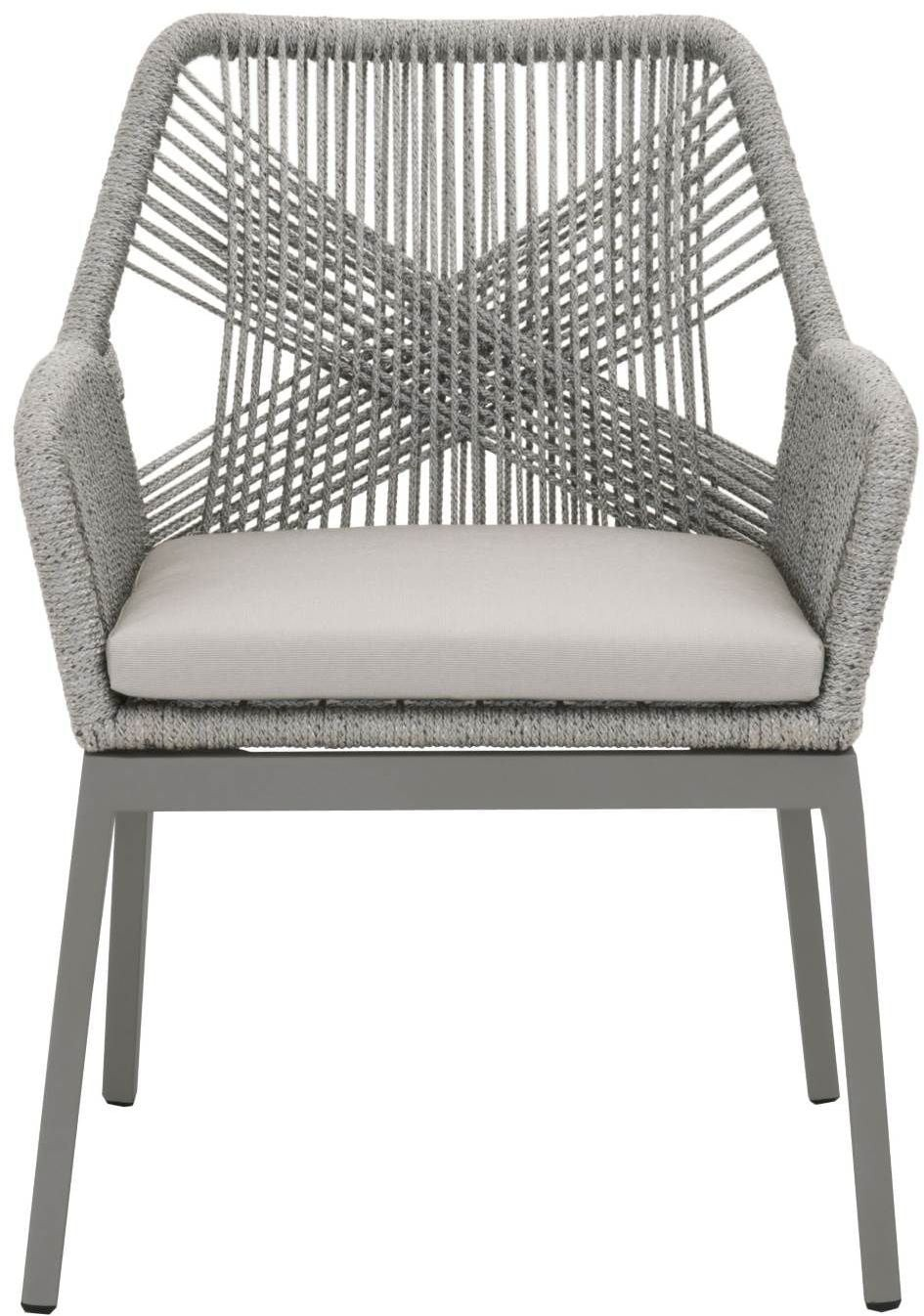 ce376d692661 ... Loom Platinum Rope Outdoor Dining Arm Chair Set of 2 Media Gallery 1 ...