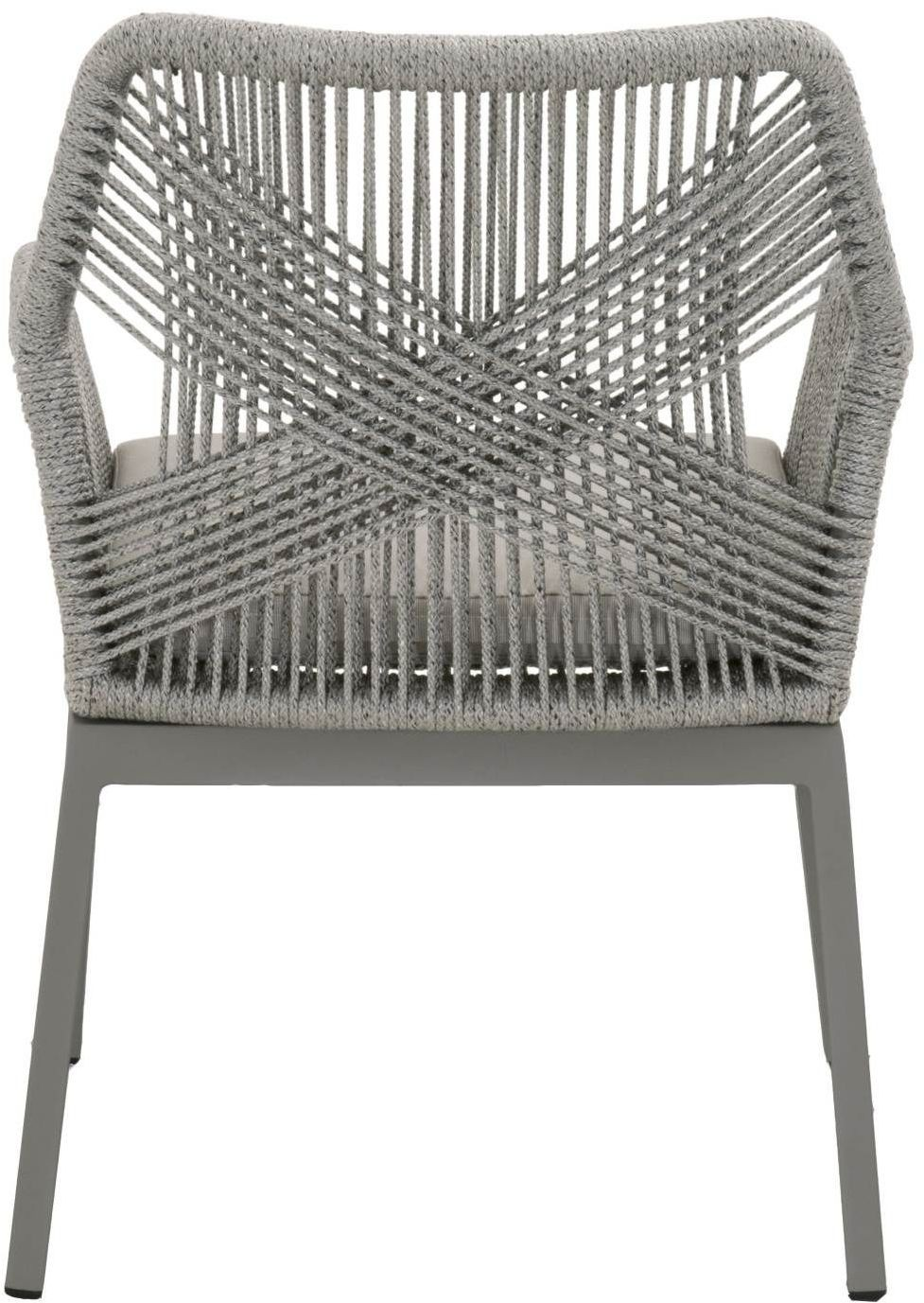 ea66bf19b414 ... Loom Platinum Rope Outdoor Dining Arm Chair Set of 2 Media Gallery 4