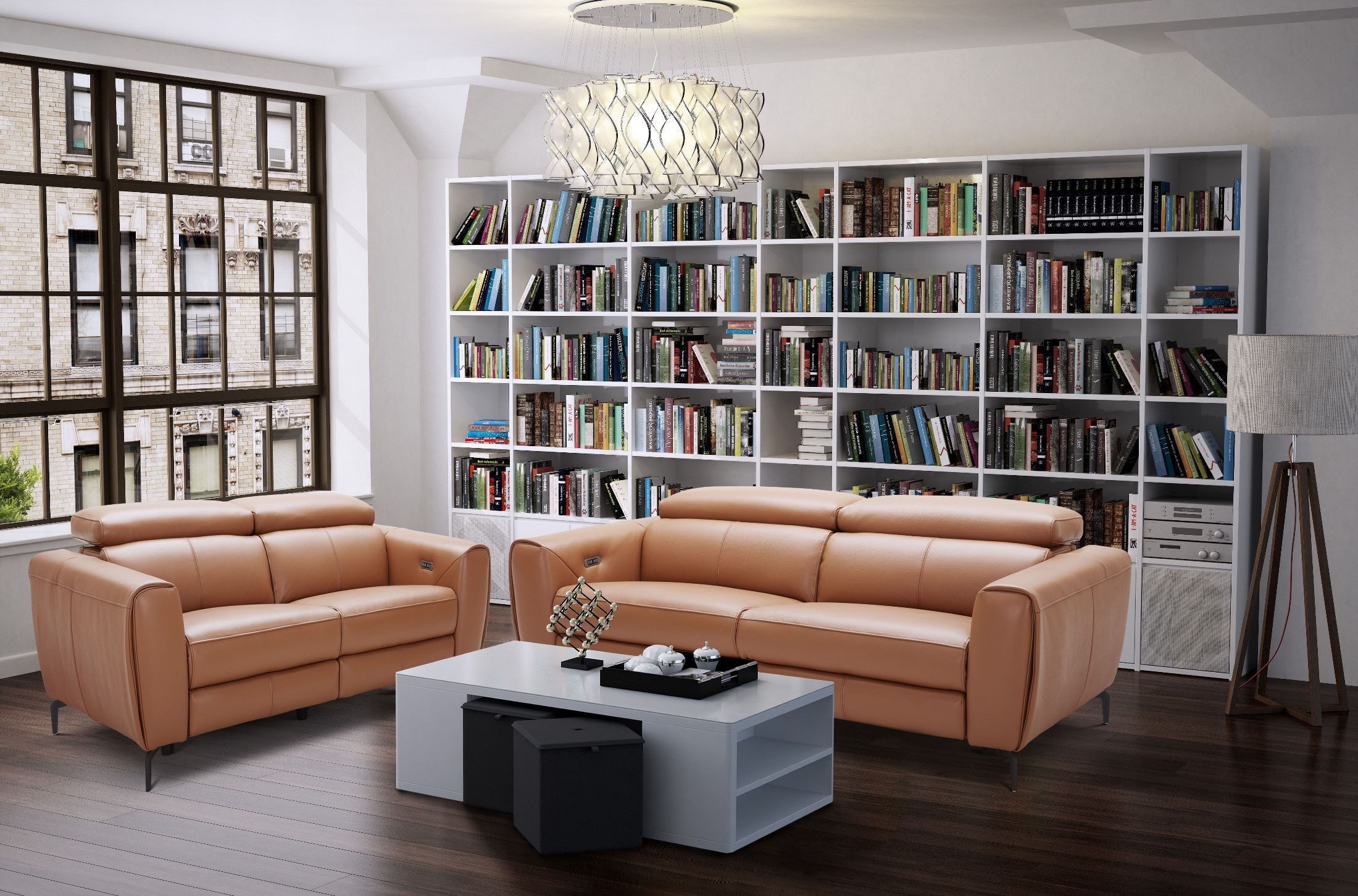Lorenzo Caramel Leather Sofa 1stopbedrooms