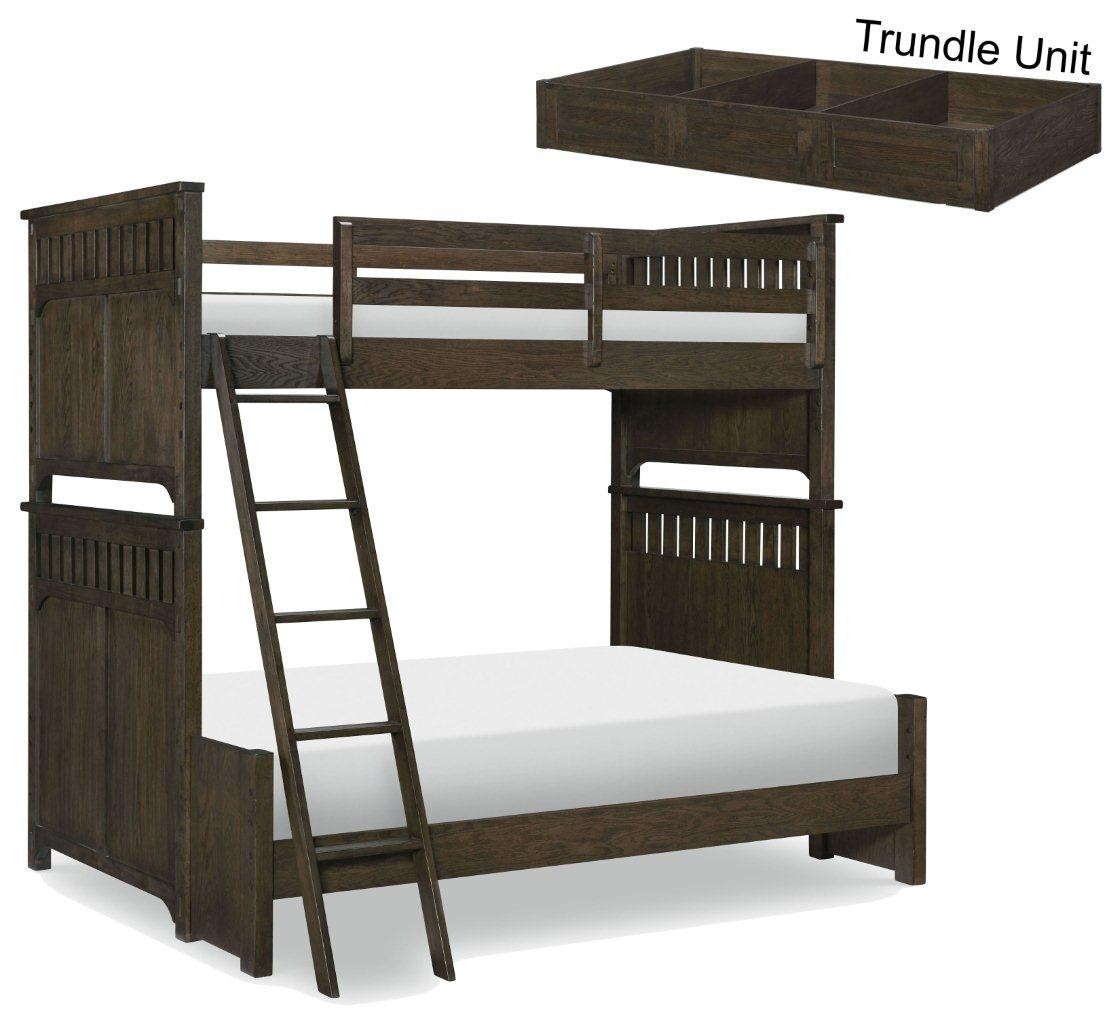 Mill Creek Molasses Twin Over Full Bunk Bed With Trundle 1stopbedrooms