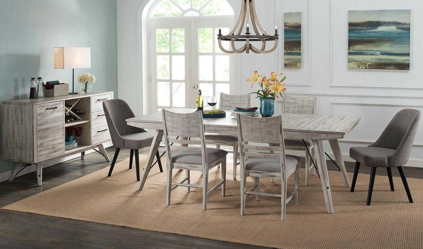 Modern Rustic Trestle Dining Room Set - 1StopBedrooms.