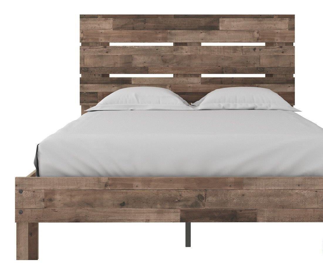Neilsville Multi Gray Full Platform Bed 1stopbedrooms