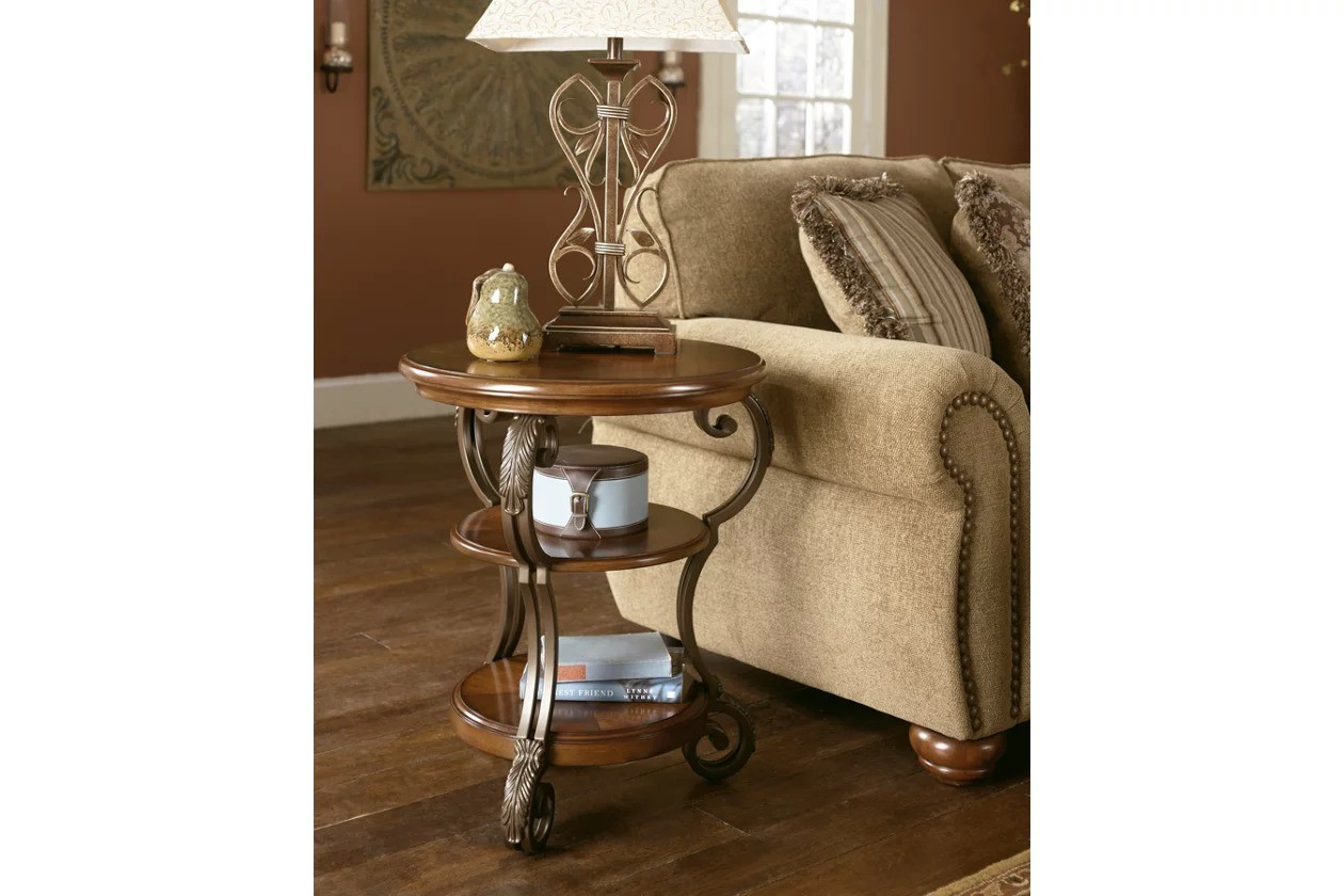 Picture of: Nestor Round Chairside End Table 1stopbedrooms