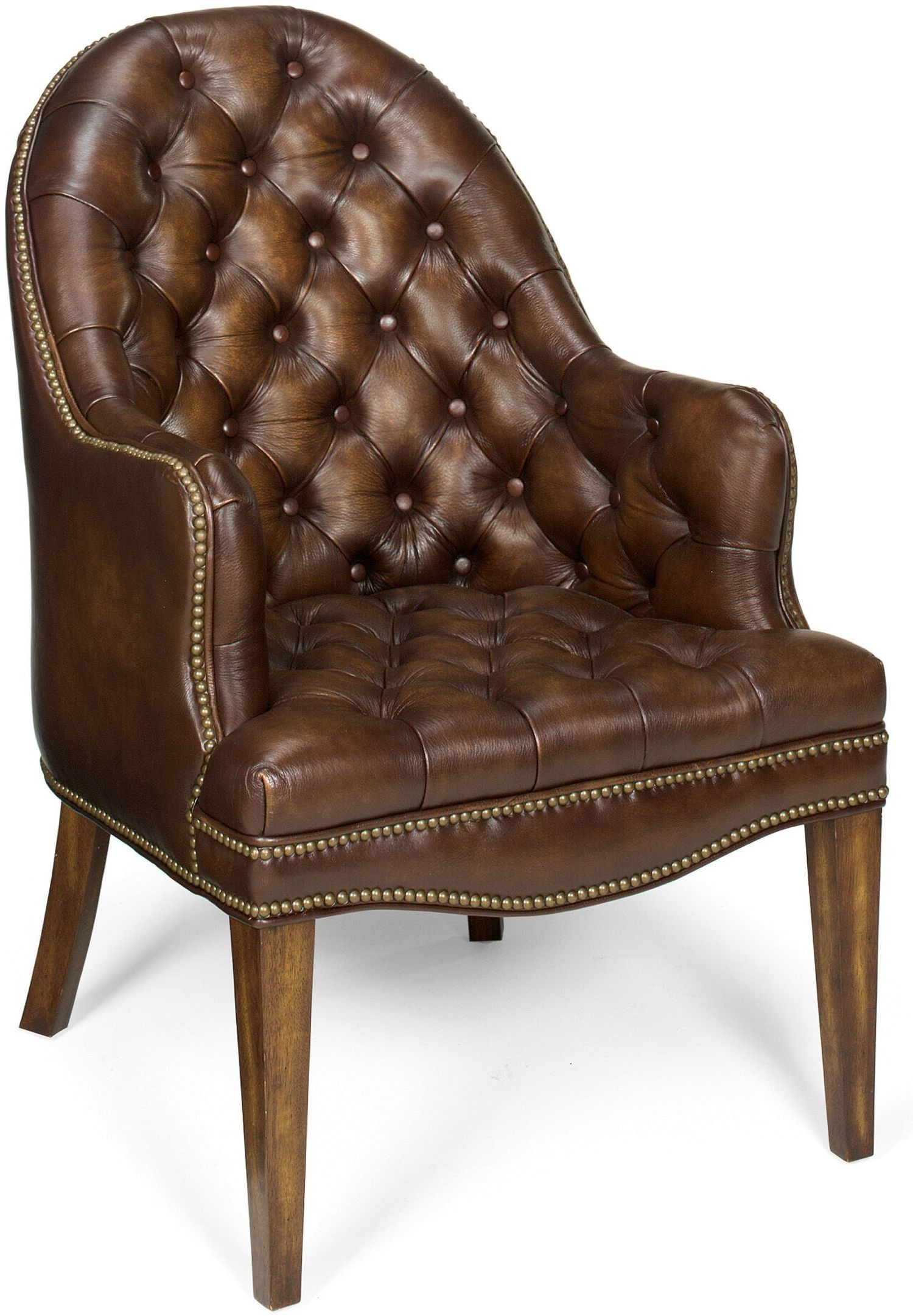 Remarkable Blarney Brown Leather Executive Side Chair Set Of 2 Pdpeps Interior Chair Design Pdpepsorg