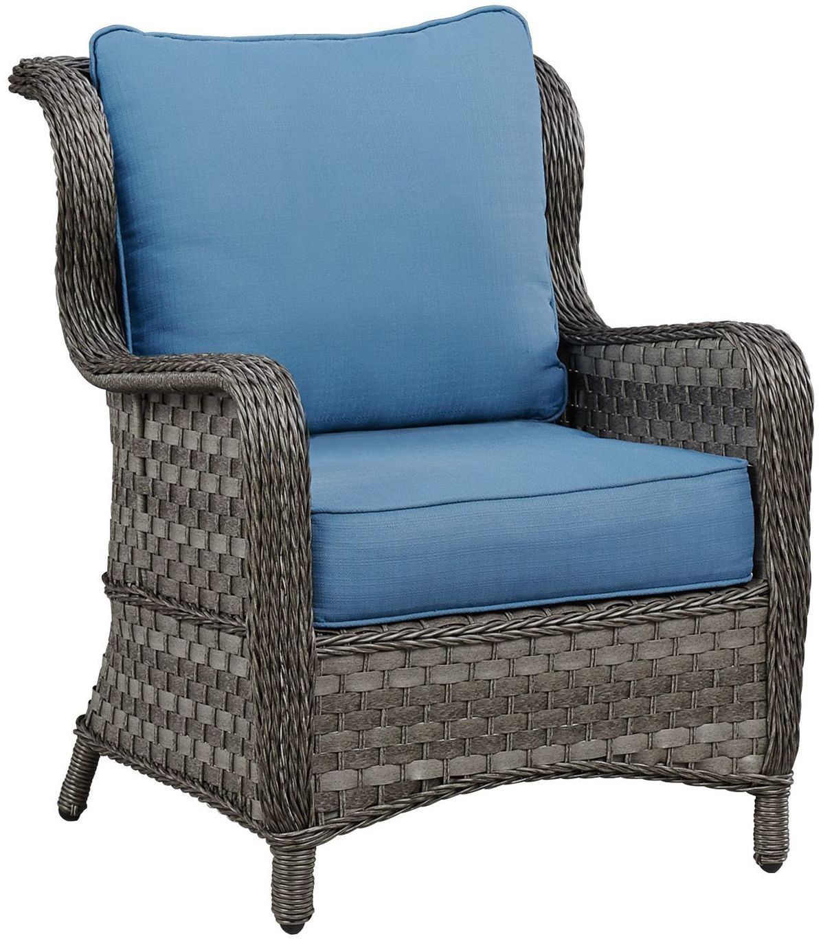 Abbots Court Blue and Gray Outdoor Conversation Set Media Gallery 6