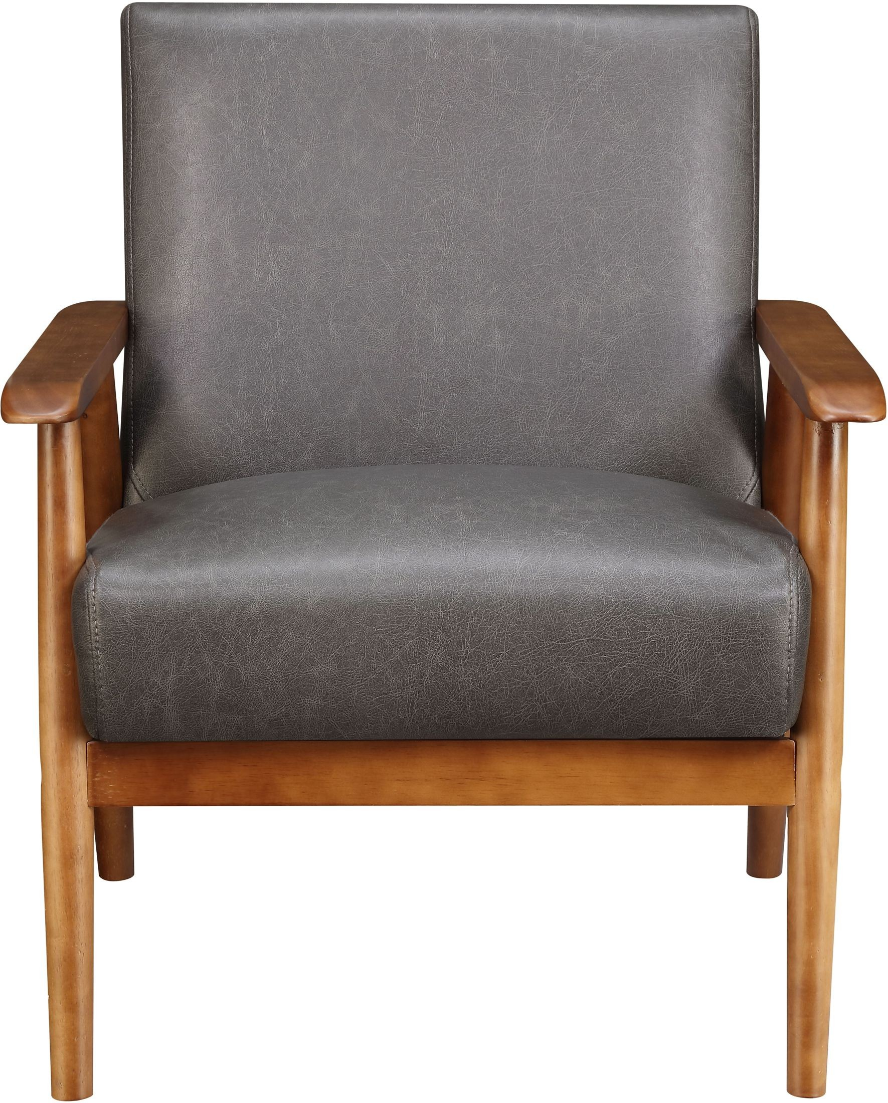 Small Framed Accent Chair For Bedroom: Lummus Steel Wood Frame Upholstered Accent Chair