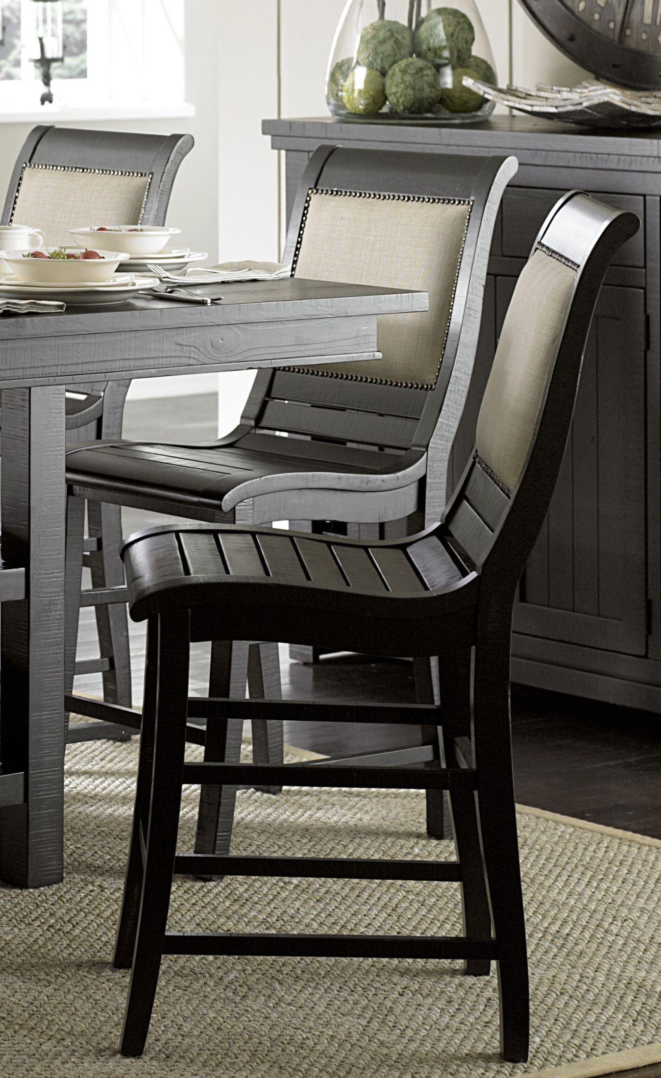 Willow Distressed White Slat Bedroom Set: Progressive Furniture Willow Distressed Black Rectangular