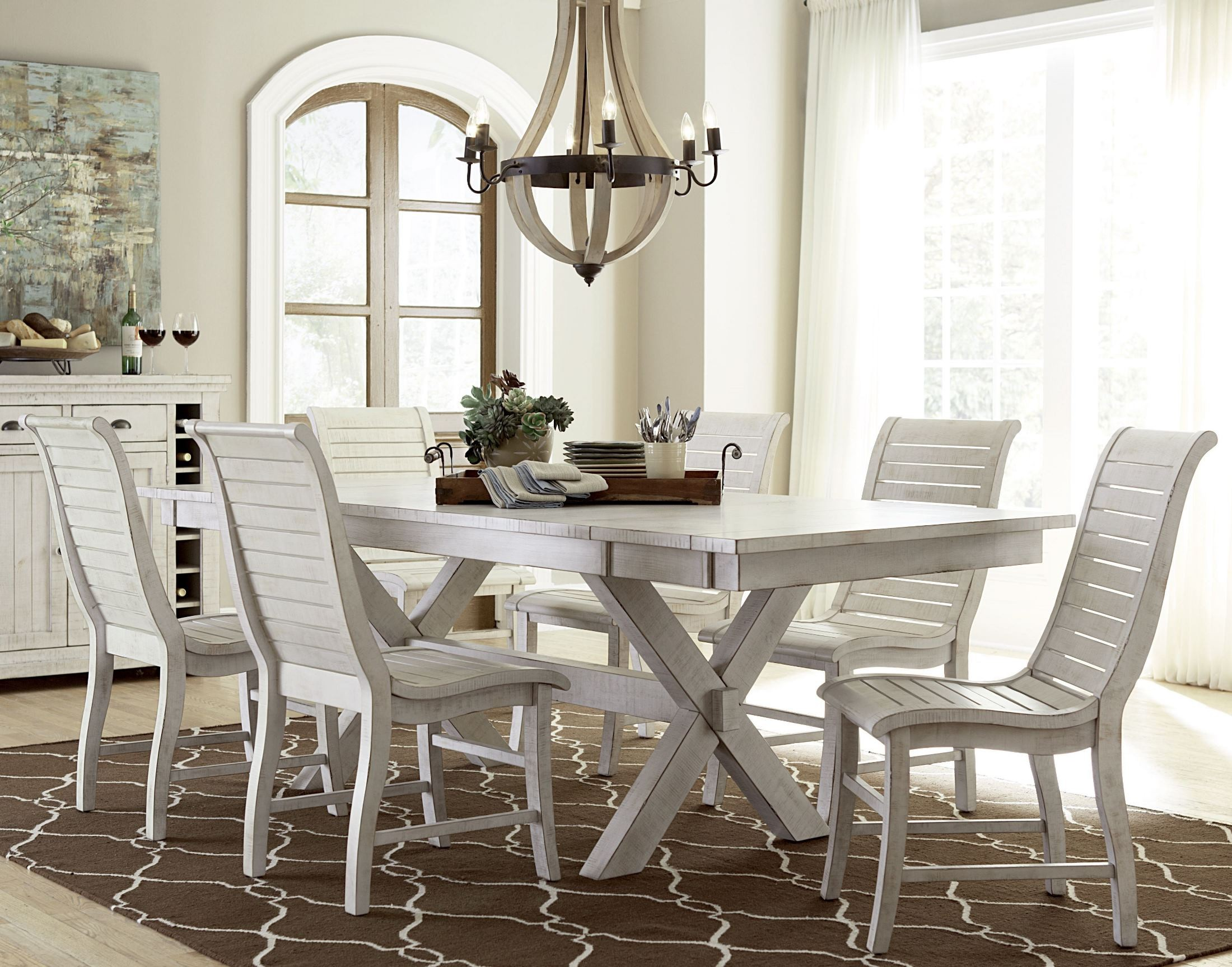 Willow Distressed White Counter Chair Set Of 2