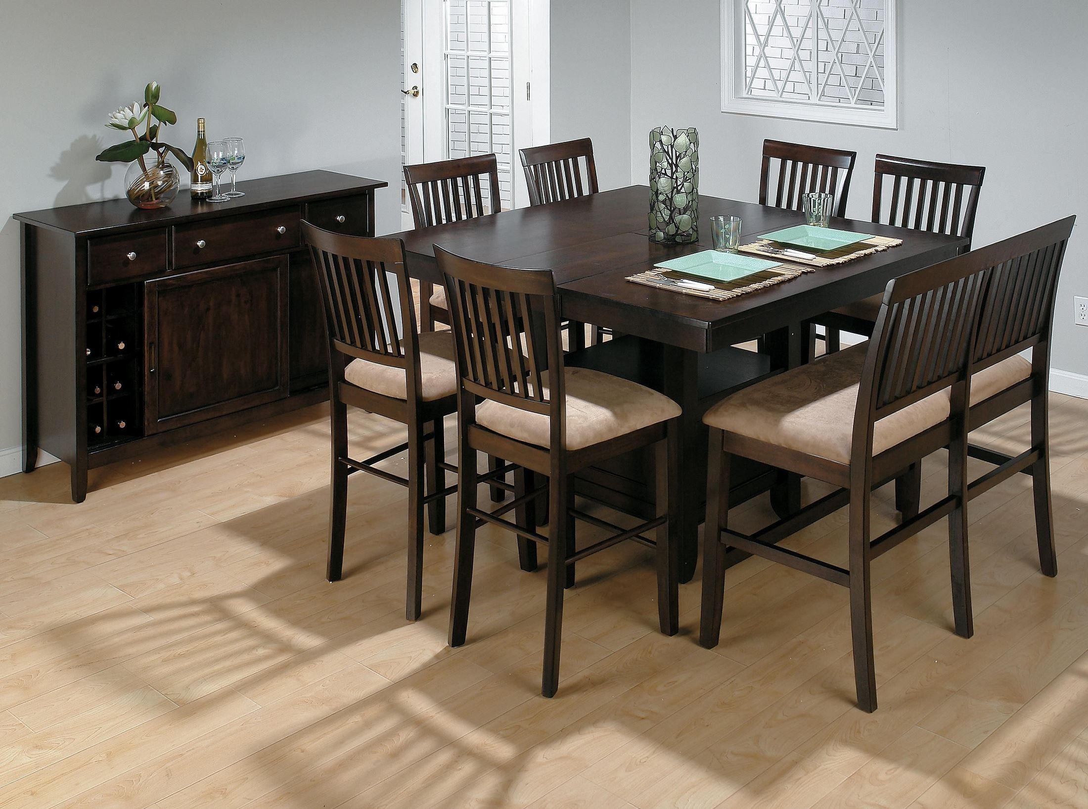 Jofran Bakers Cherry Storage Counter Height Dining Table Bakers