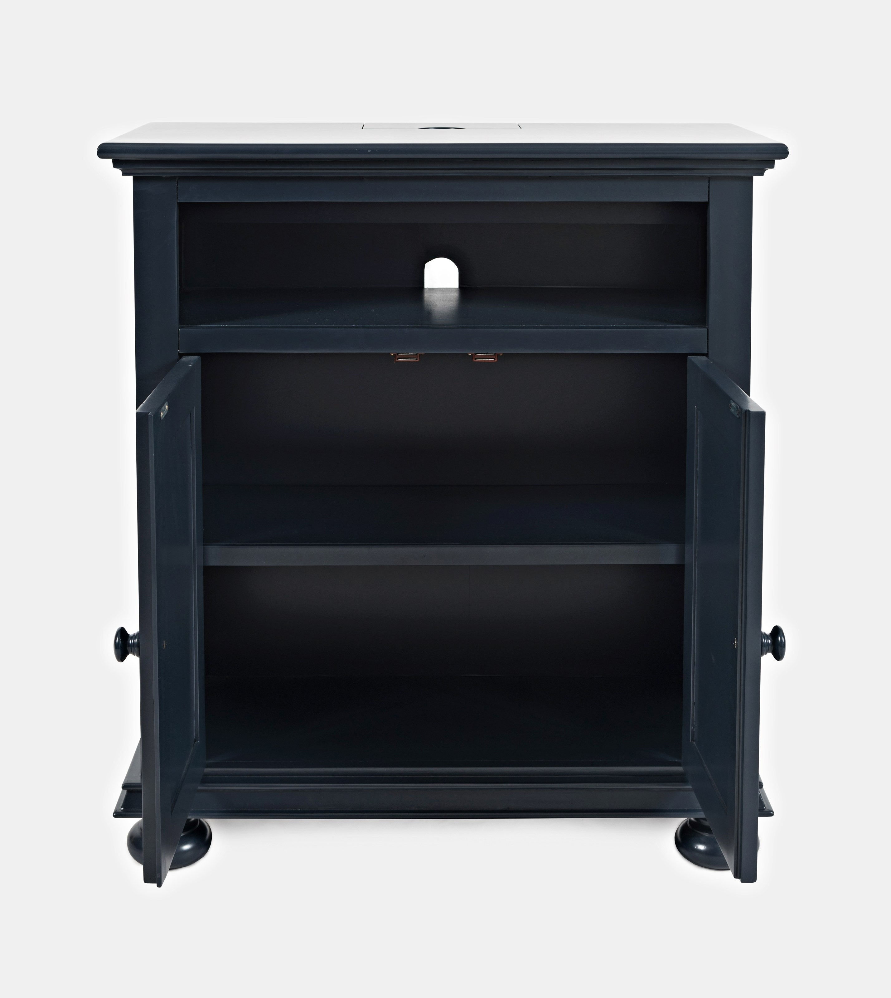 Jofran Stately Manor Power Accent Chest Navy Blue