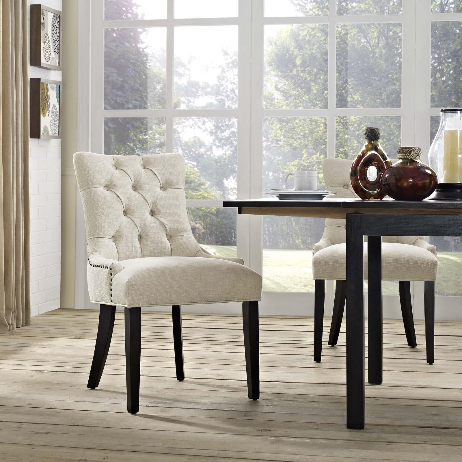 Azure Modway EEI-2223-AZU Regent Fabric Dining Chair