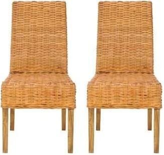 Sanibel Honey Oak Rattan Side Chair Set Of 2 1stopbedrooms
