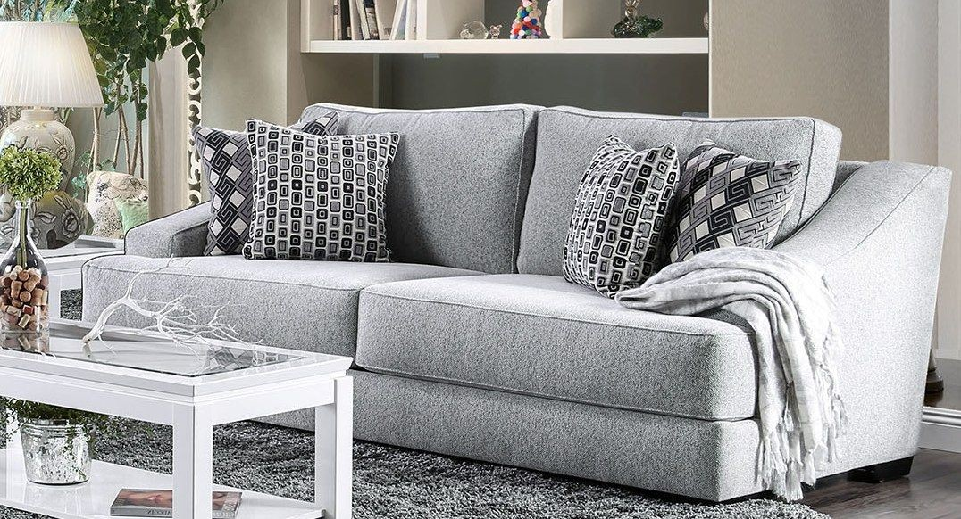 Grey Couches In Light Rooms: Lesath Light Gray Living Room Set