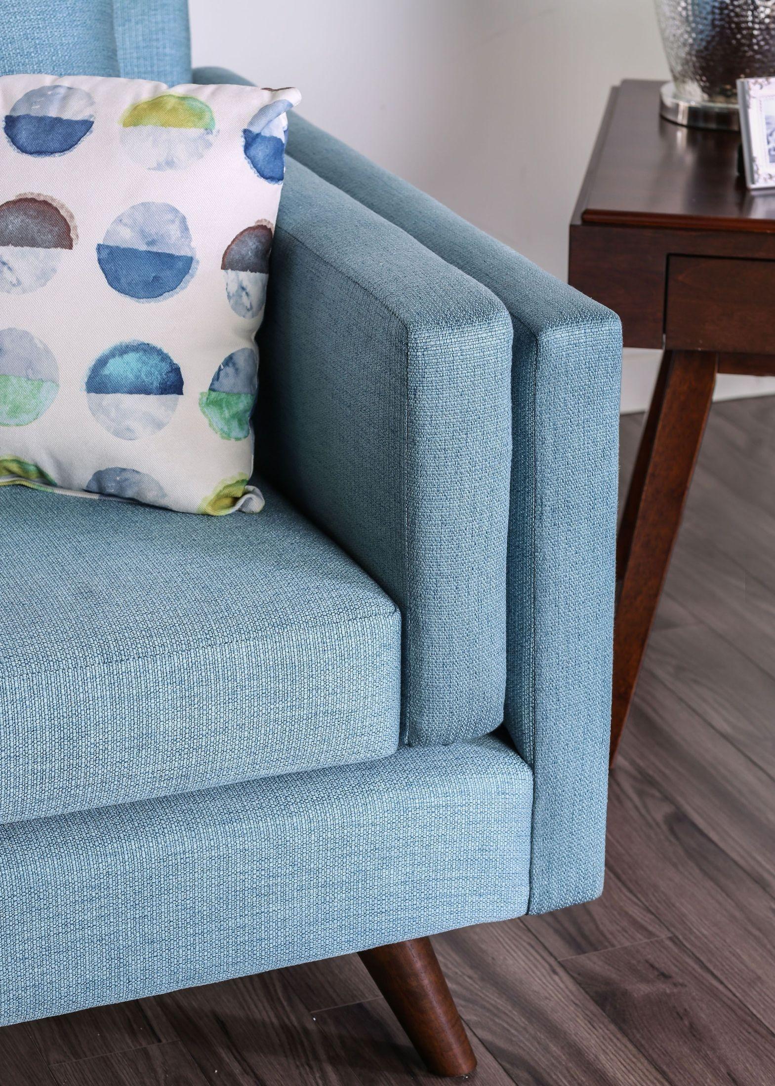 Genna Sky Blue Sofa 1stopbedrooms