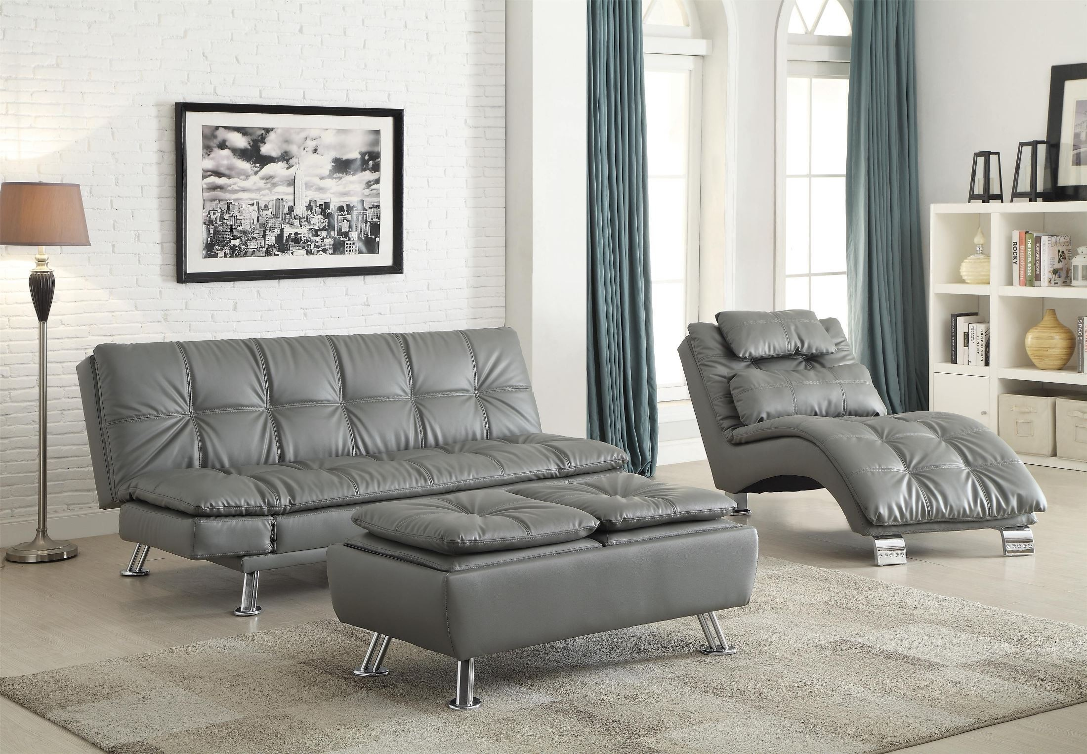 Coaster Dilleston Futon Style Living Room Set - Dilleston Collection ...