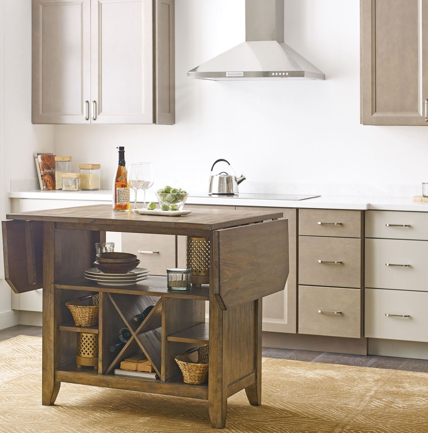 The Nook Oak Kitchen Island Set