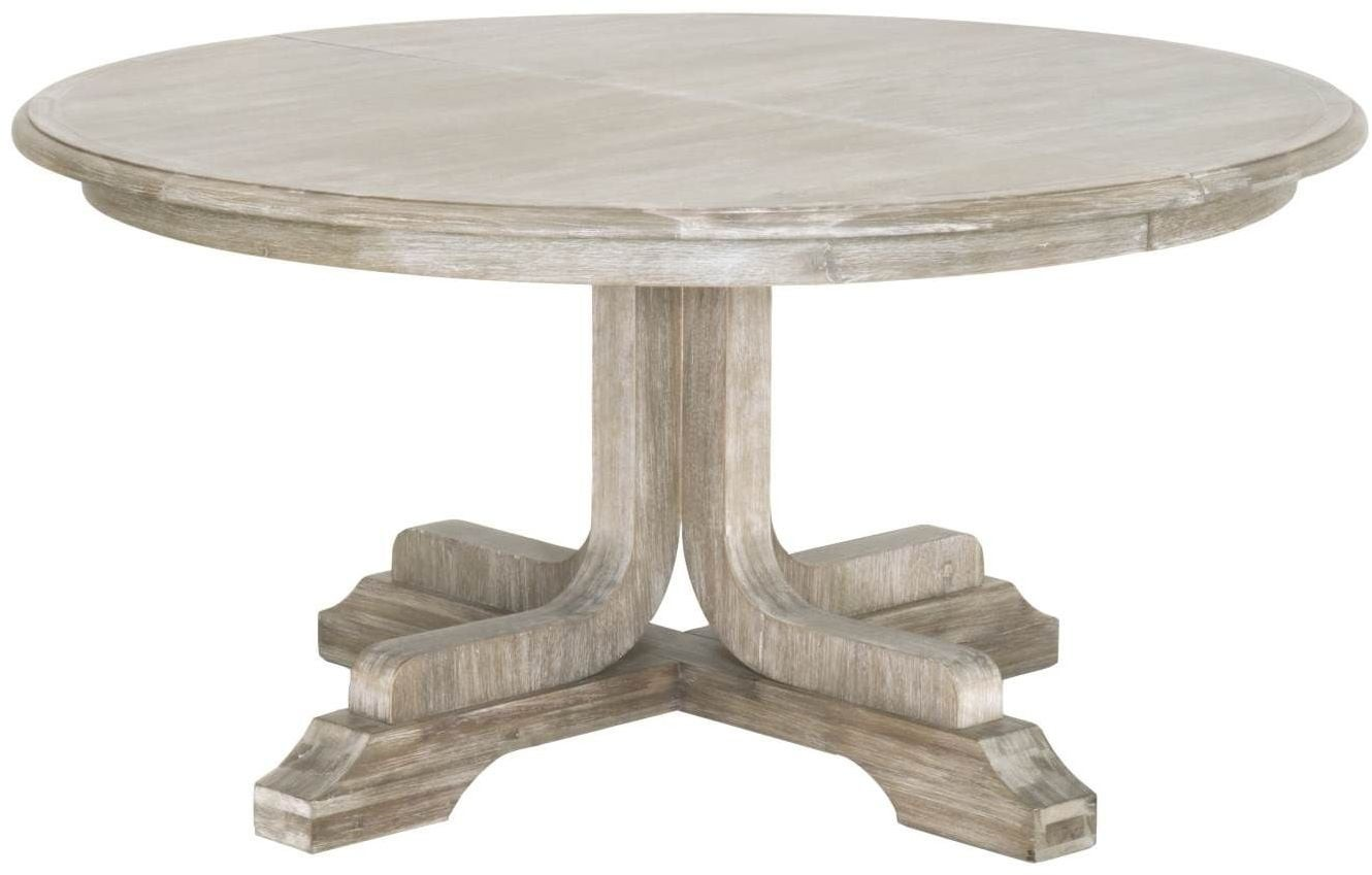 """Torrey Natural Gray 60"""" Extendable Round Dining Room Set ..."""