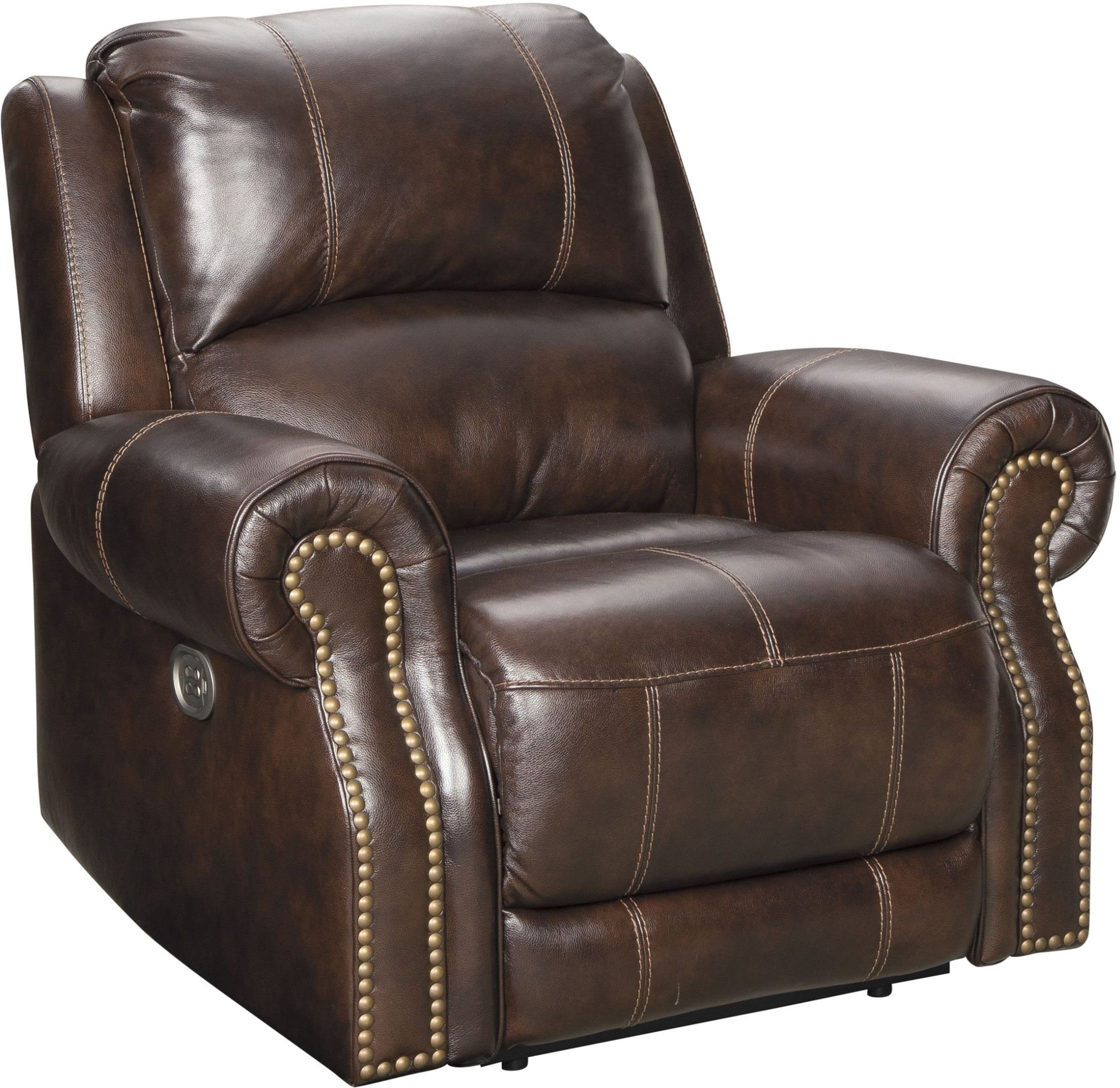 Buncrana Chocolate Power Reclining Living Room Set With