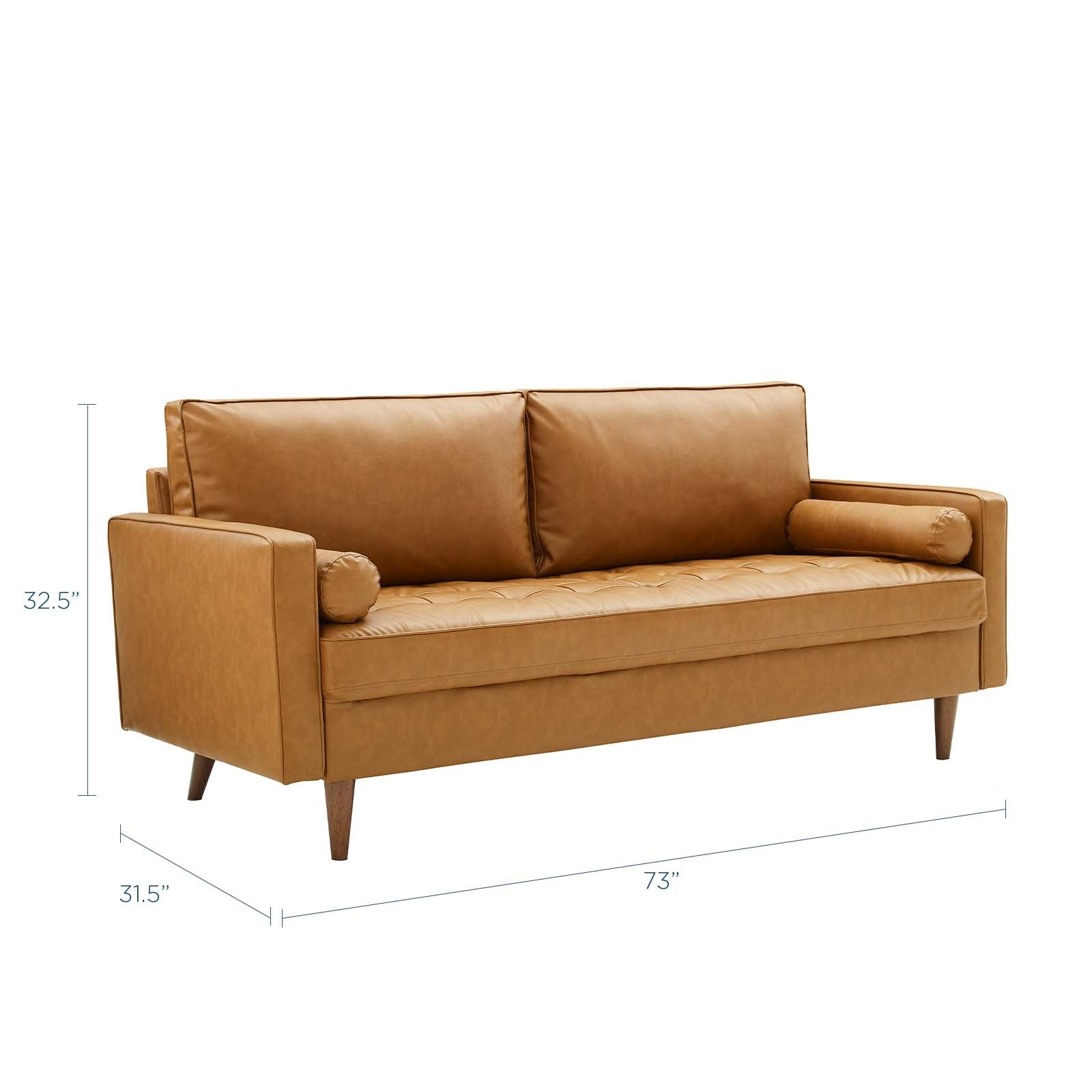 Valour Tan Upholstered Faux Leather