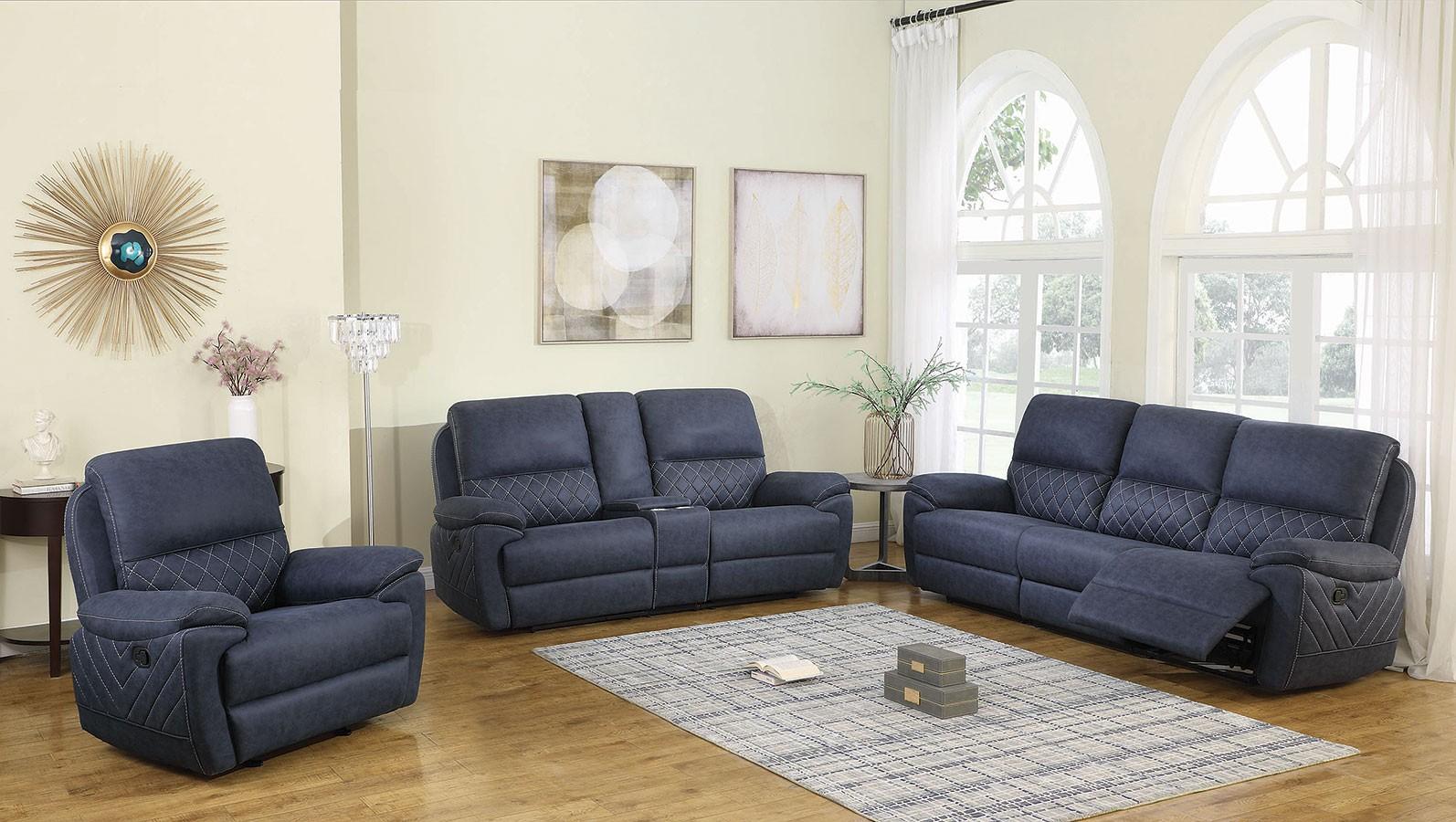 Variel Reclining Living Room Set Blue 1stopbedrooms
