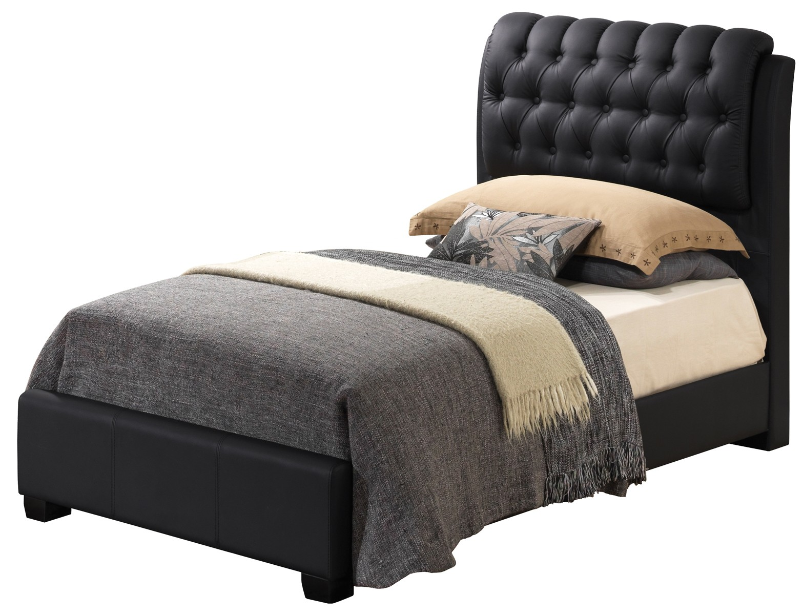 Glory Furniture G1500 Button-Tufted Bedroom Set In Black