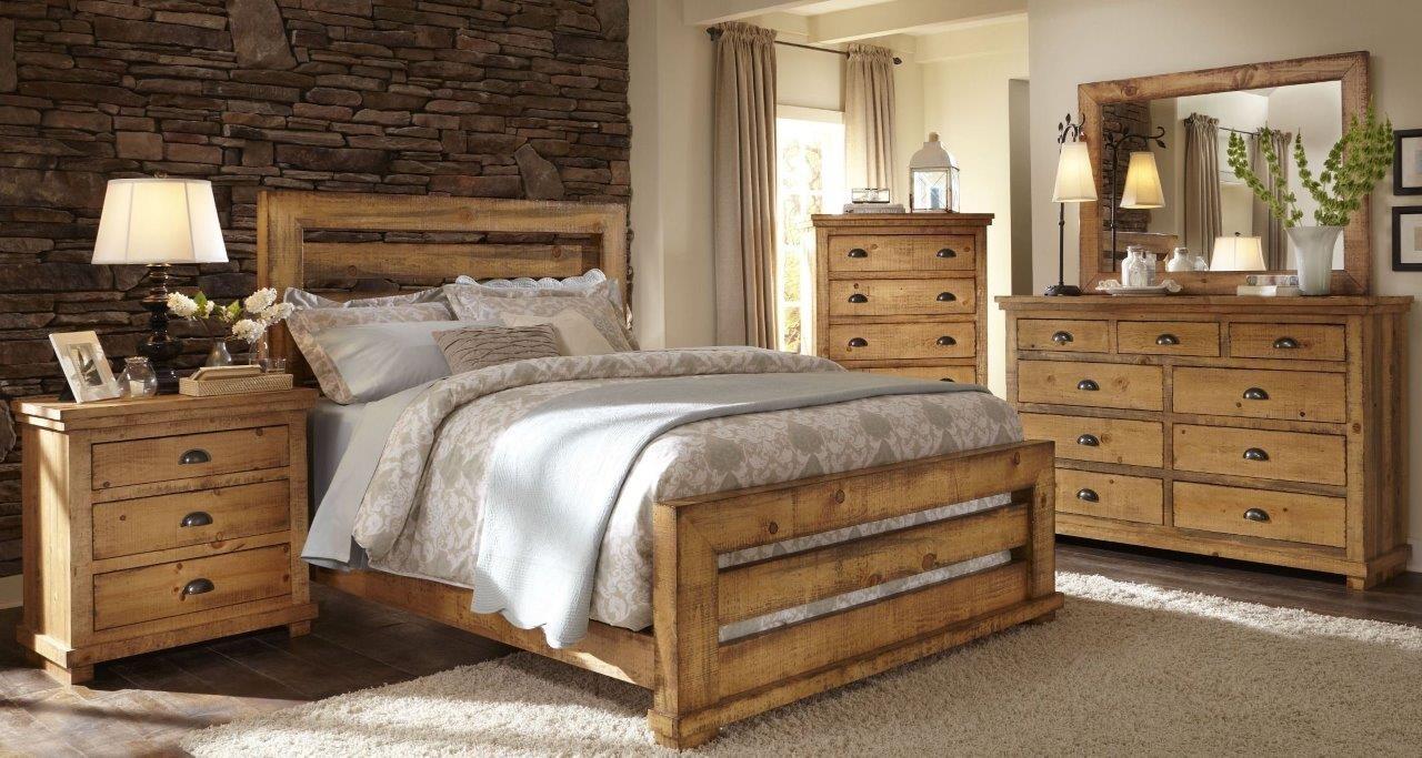 willow distressed pine slat bedroom set  1stopbedrooms