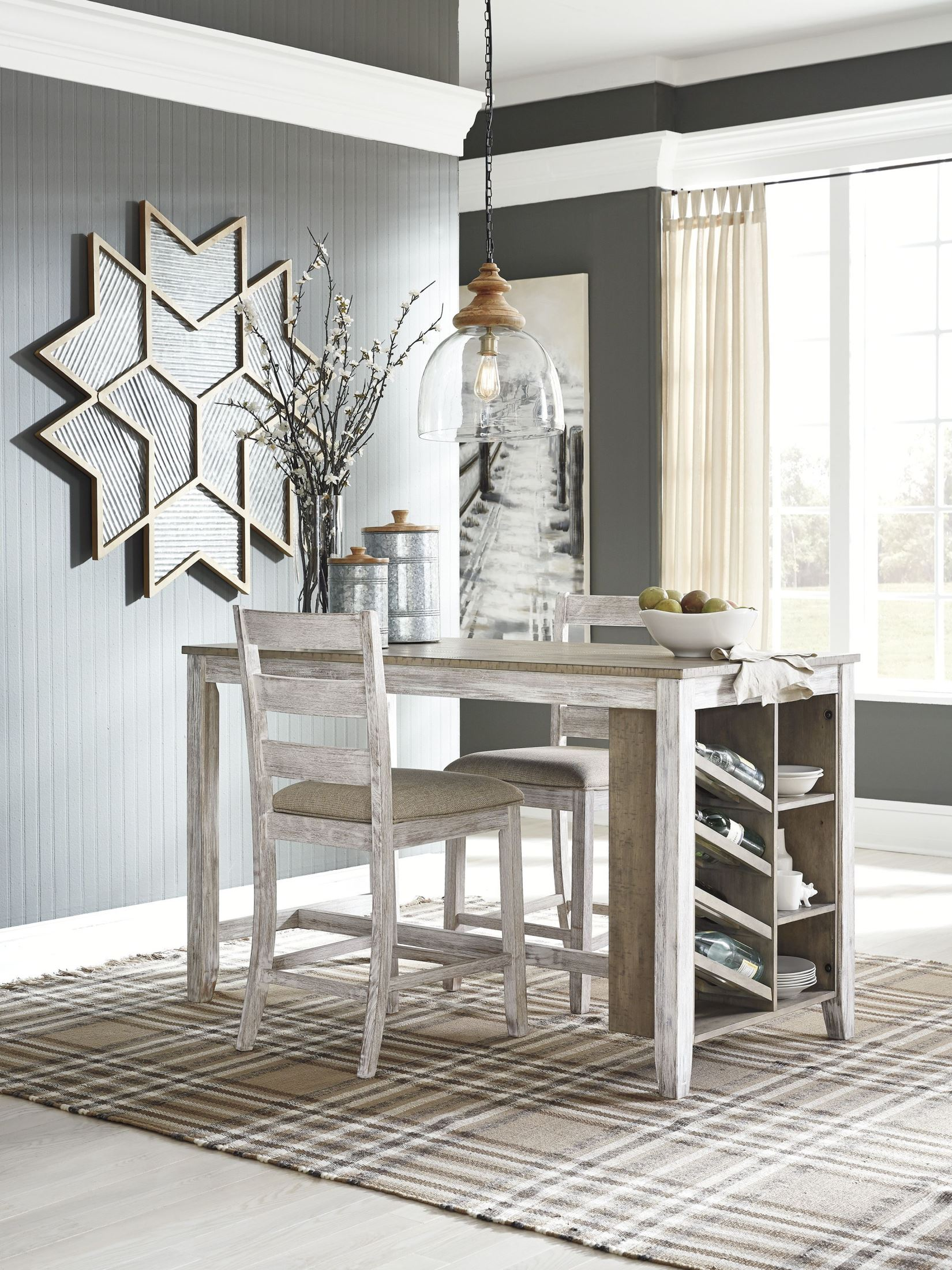 Signature Design By Ashley Skempton White And Light Brown