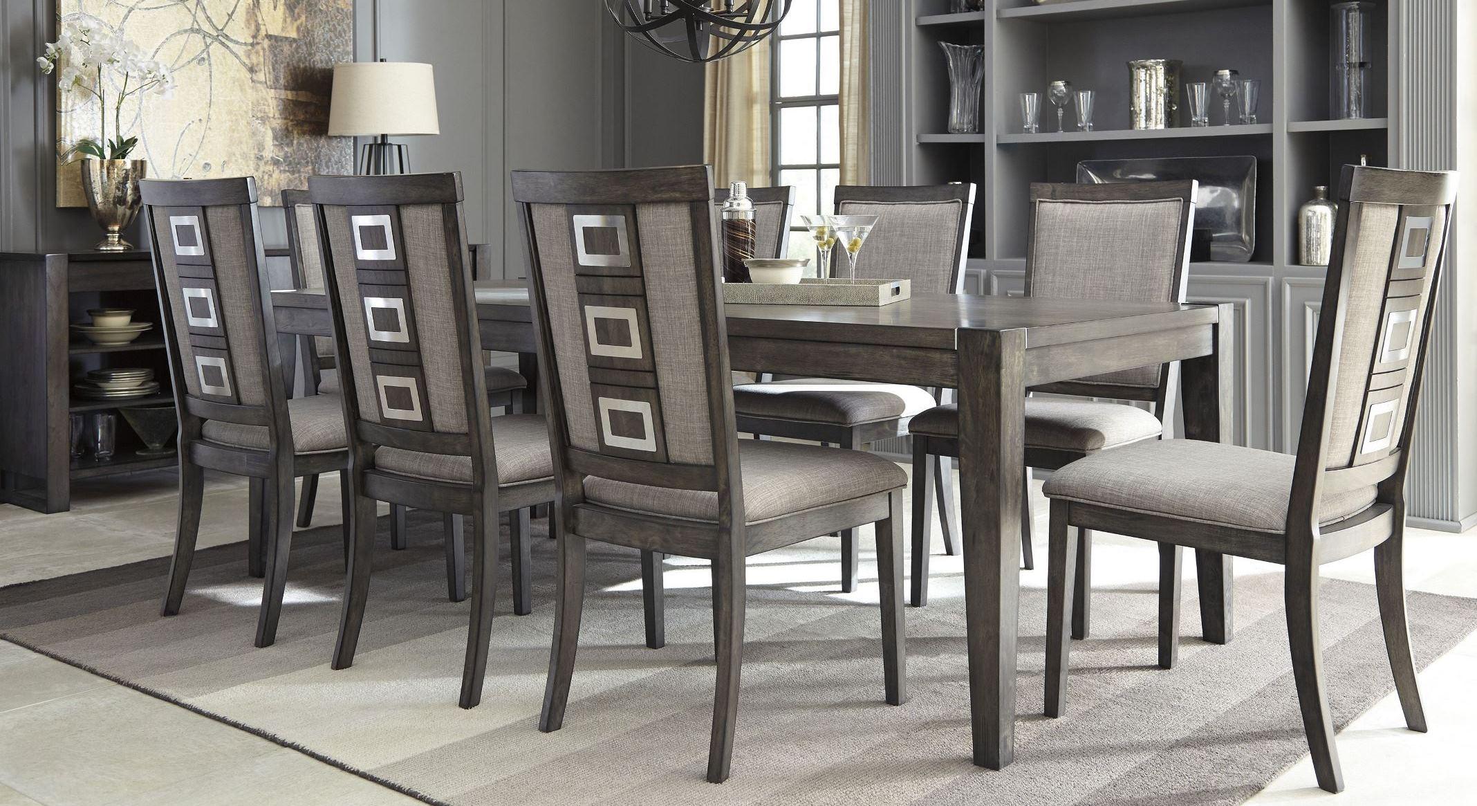 Chadoni Gray Rectangular Extendable Dining Room SetMedia Image. Chadoni  Gray Rectangular Extendable Dining Room Set ...
