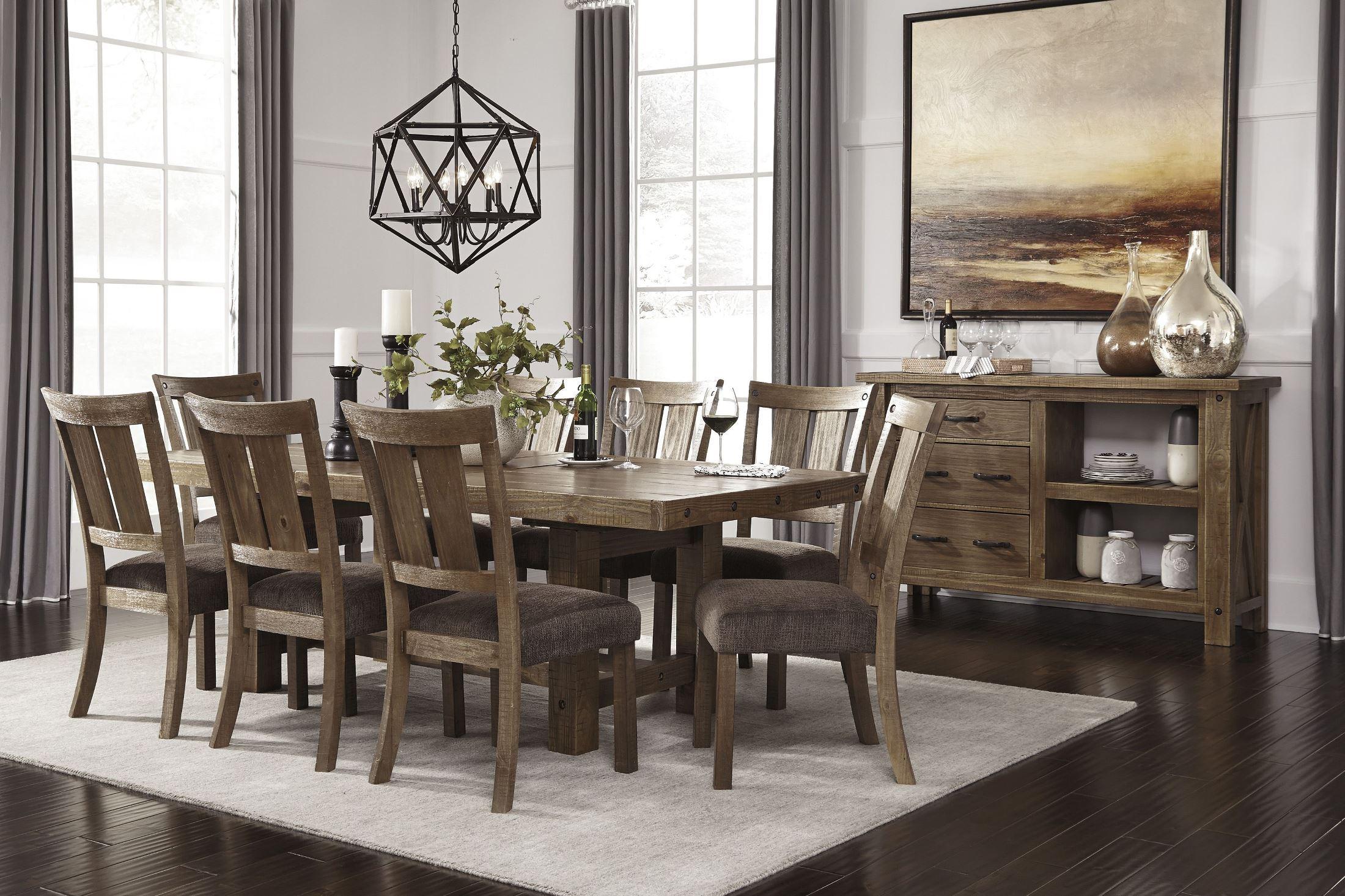 Tamilo Gray Brown Rectangular Extendable Dining Room Set