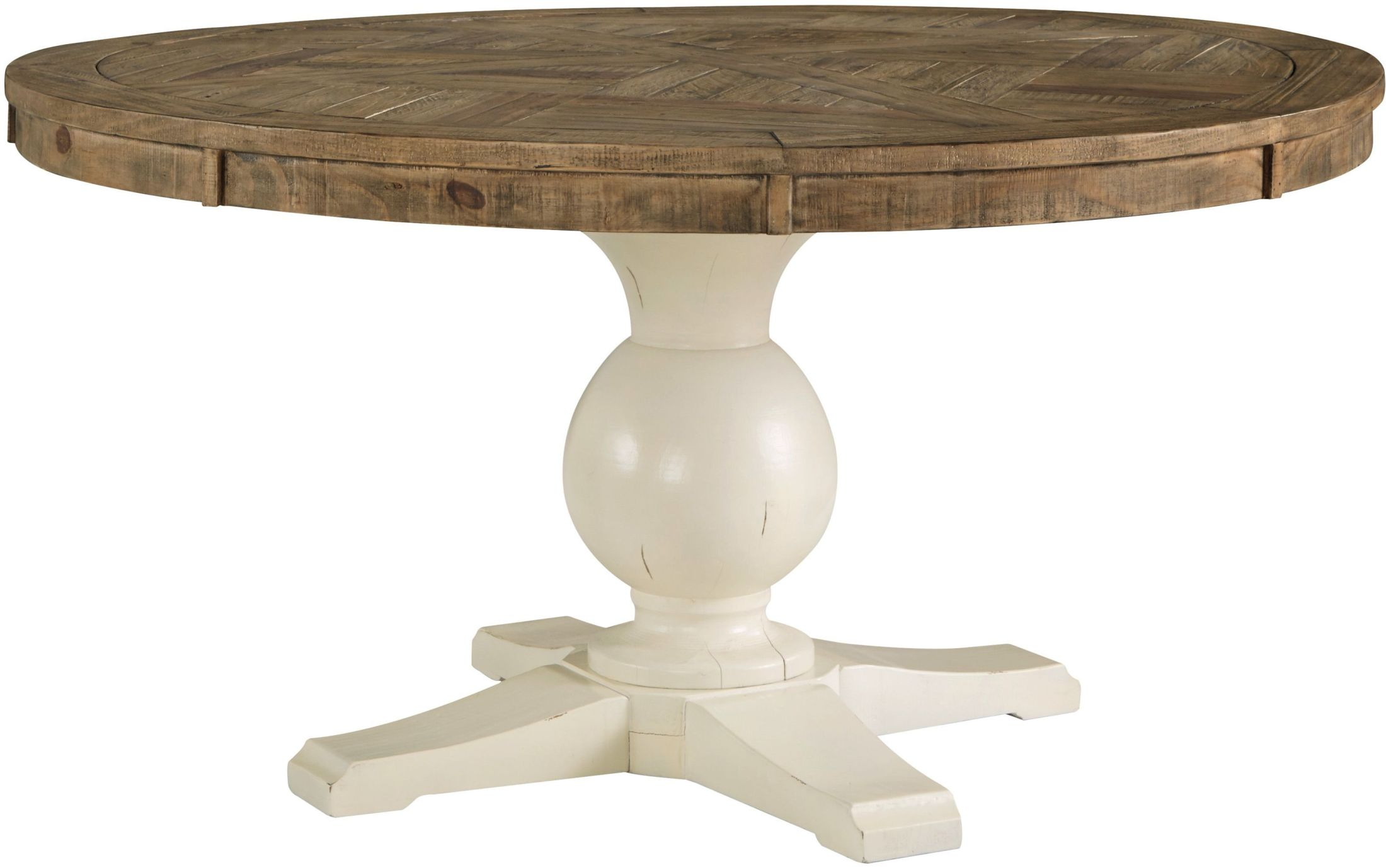 Round Table Bedroom Furniture: Signature Design By Ashley Grindleburg Light Brown Round