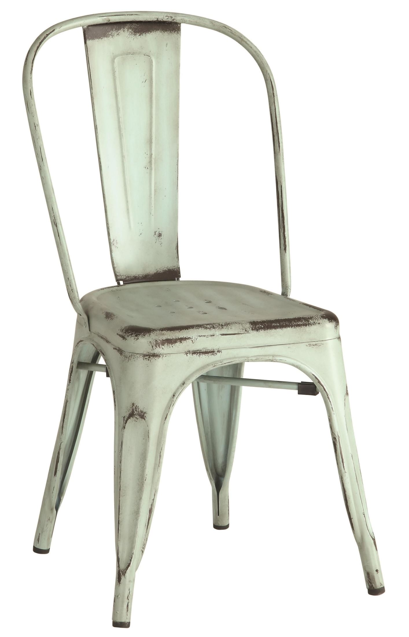 Bellevue Blue Metal Dining Chair Set Of 4