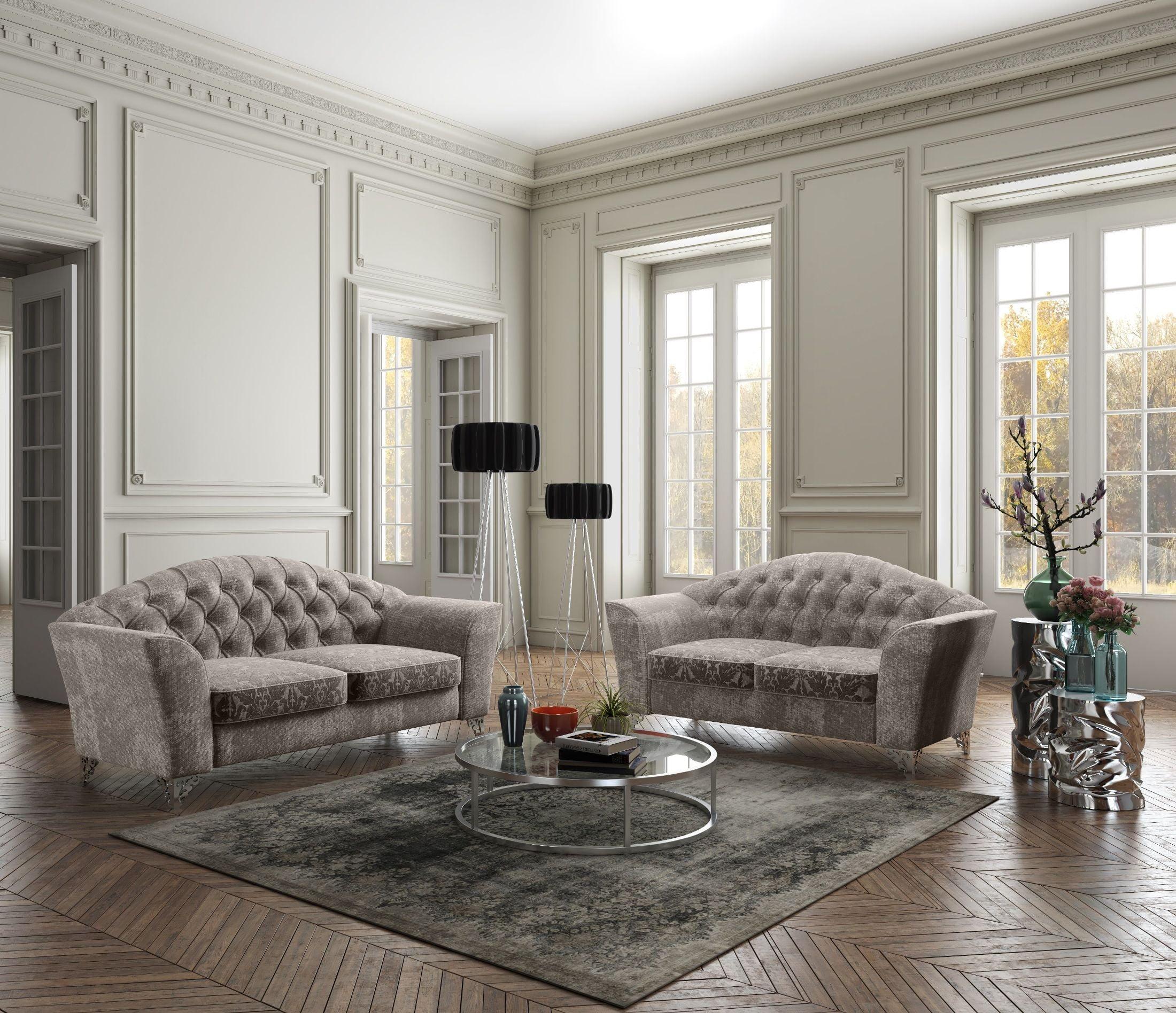 Divina Butter Leather Living Room Set