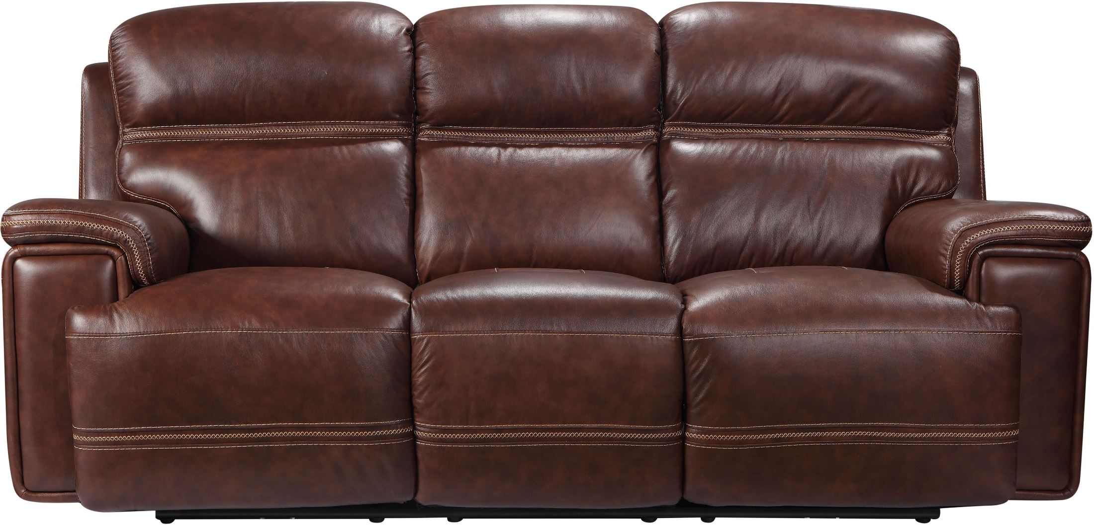 Leather Furniture Traveler Collection: Leather Italia USA Shae Fresno Brown Leather Reclining